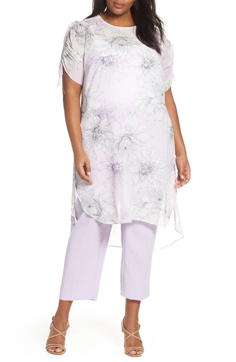 Vince Camuto T-shirts PAGODA BLOSSOMS SHIRTTAIL TUNIC