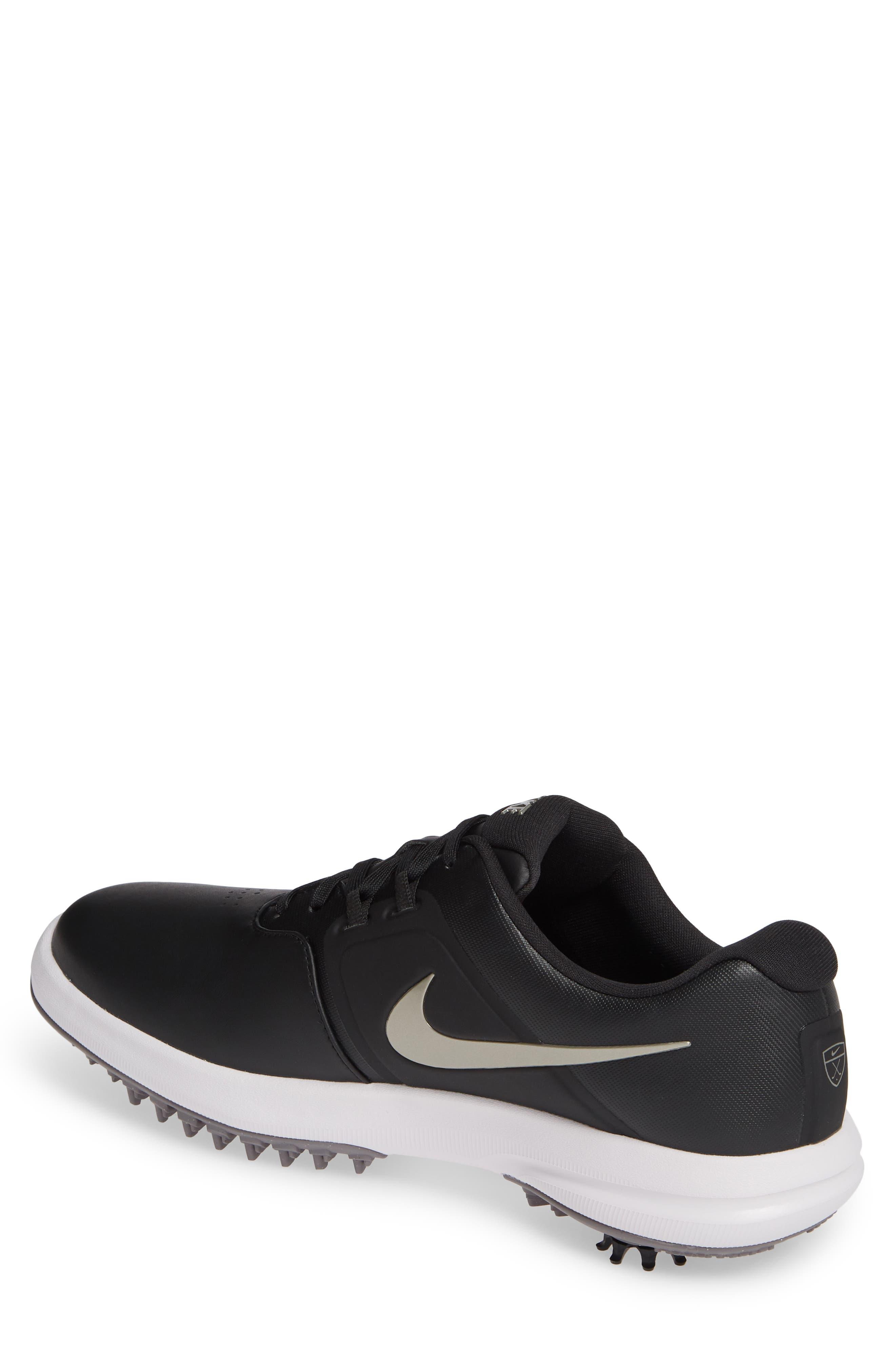 NIKE, Air Zoom Victory Golf Shoe, Alternate thumbnail 2, color, BLACK/ PEWTER/ VAST GREY