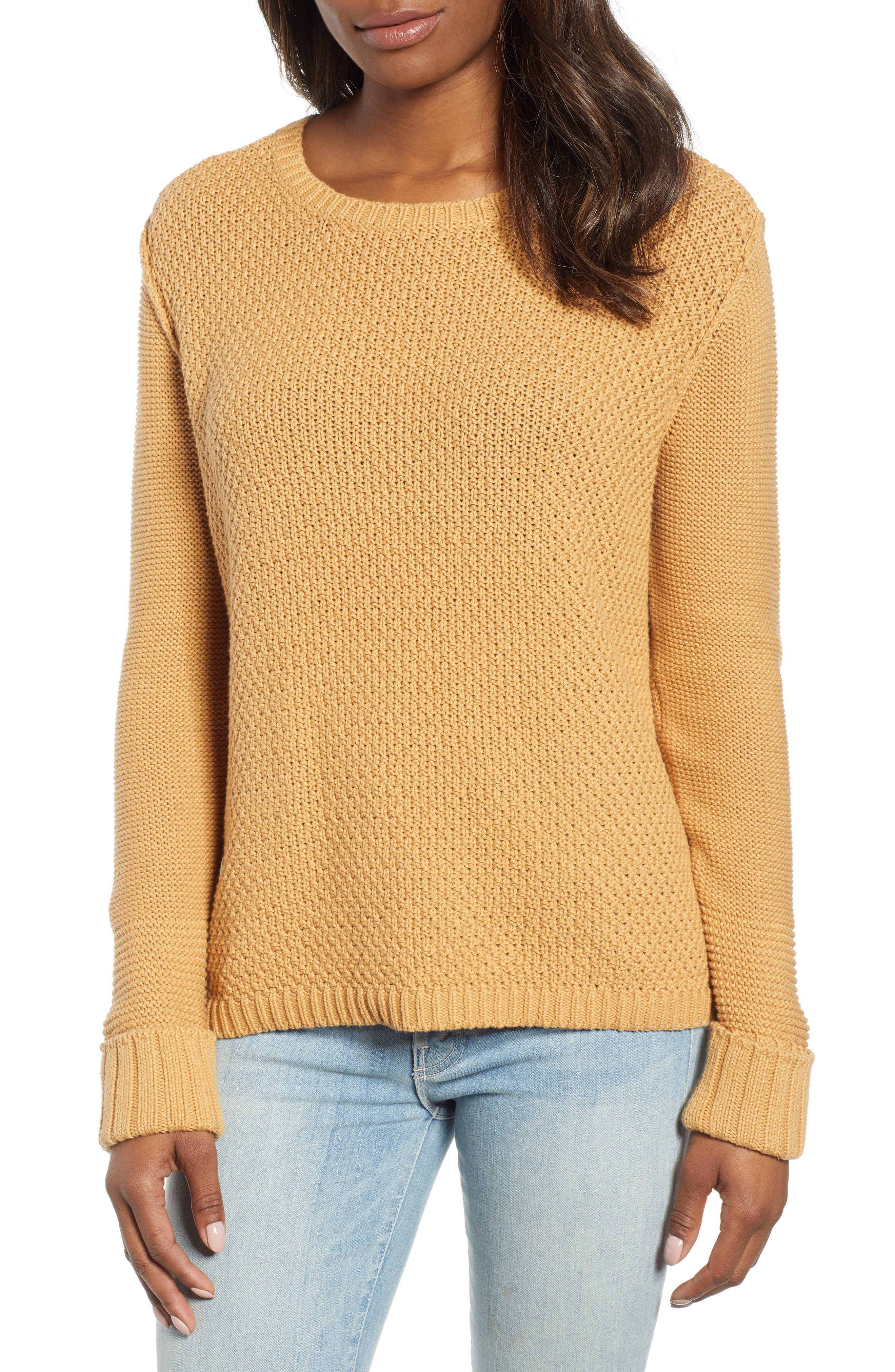 CASLON<SUP>®</SUP>, Mixed Stitch Sweater, Main thumbnail 1, color, TAN CINNAMON