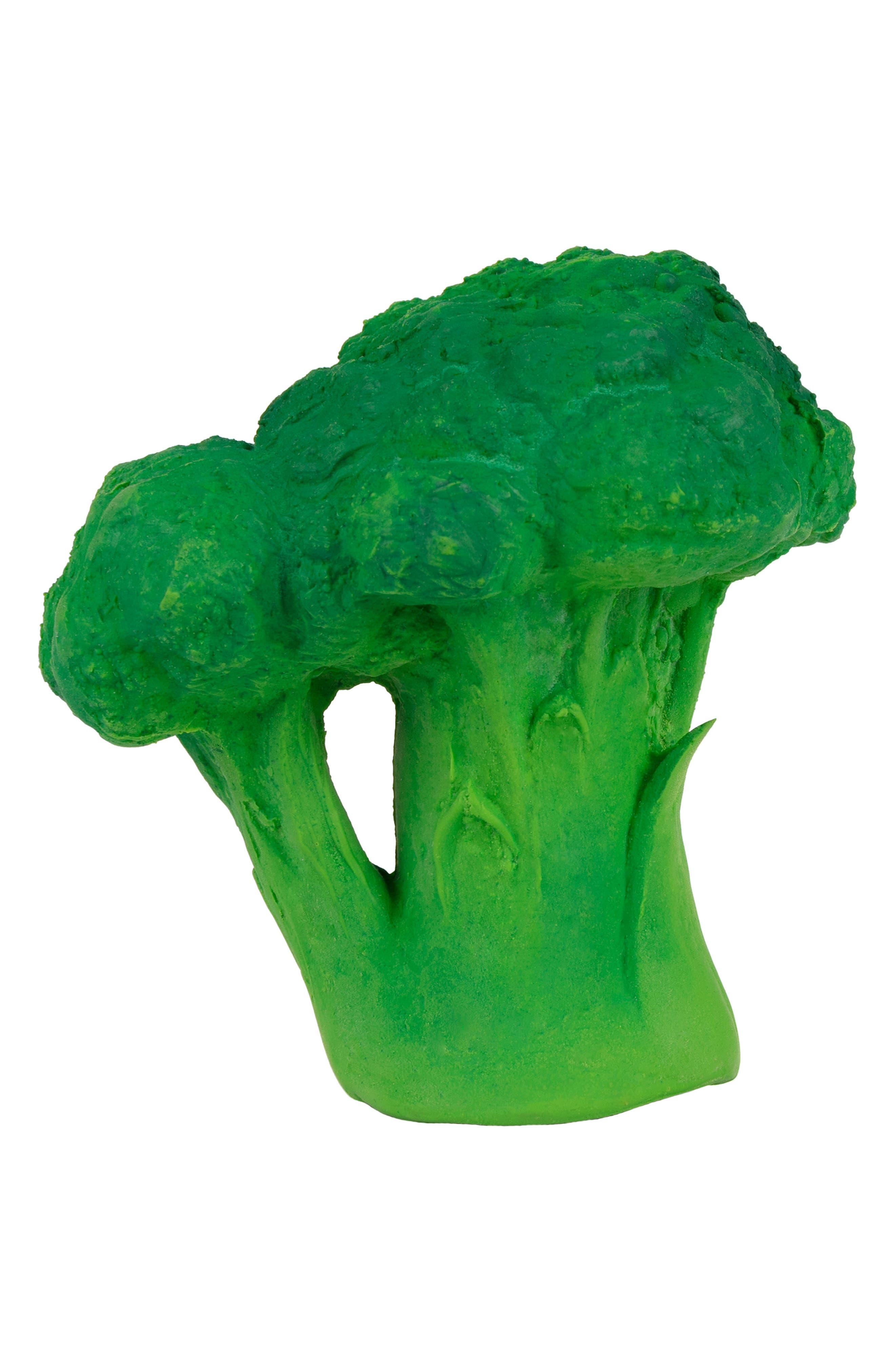 OLI & CAROL, Oli and Carol Brucy the Broccoli Teething Toy, Main thumbnail 1, color, GREEN