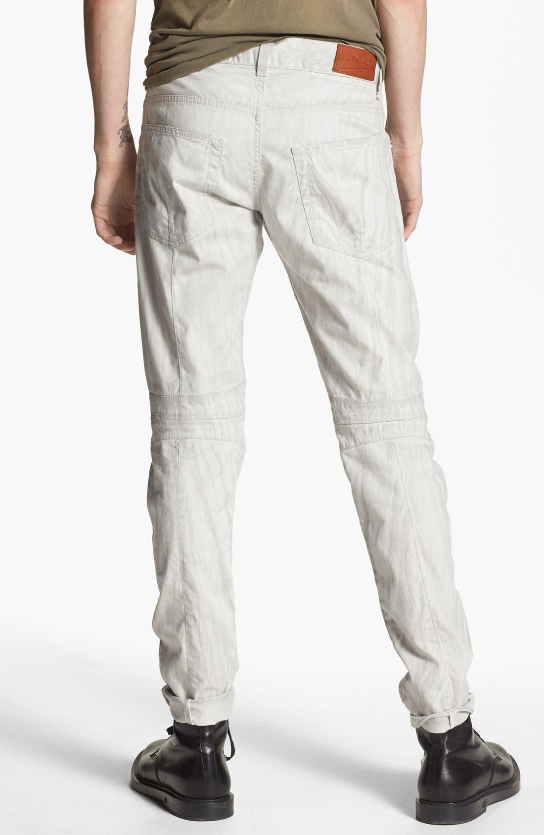 PIERRE BALMAIN, Slim Fit Jeans, Alternate thumbnail 3, color, 101