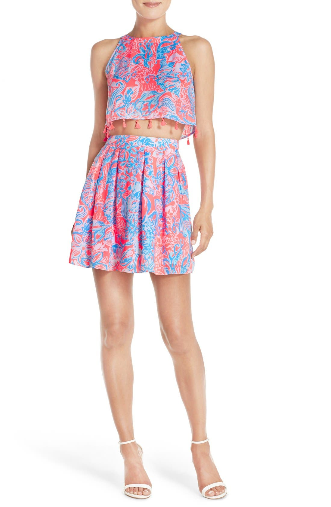 LILLY PULITZER<SUP>®</SUP>, 'Selina' Two-Piece Dress, Alternate thumbnail 4, color, 677