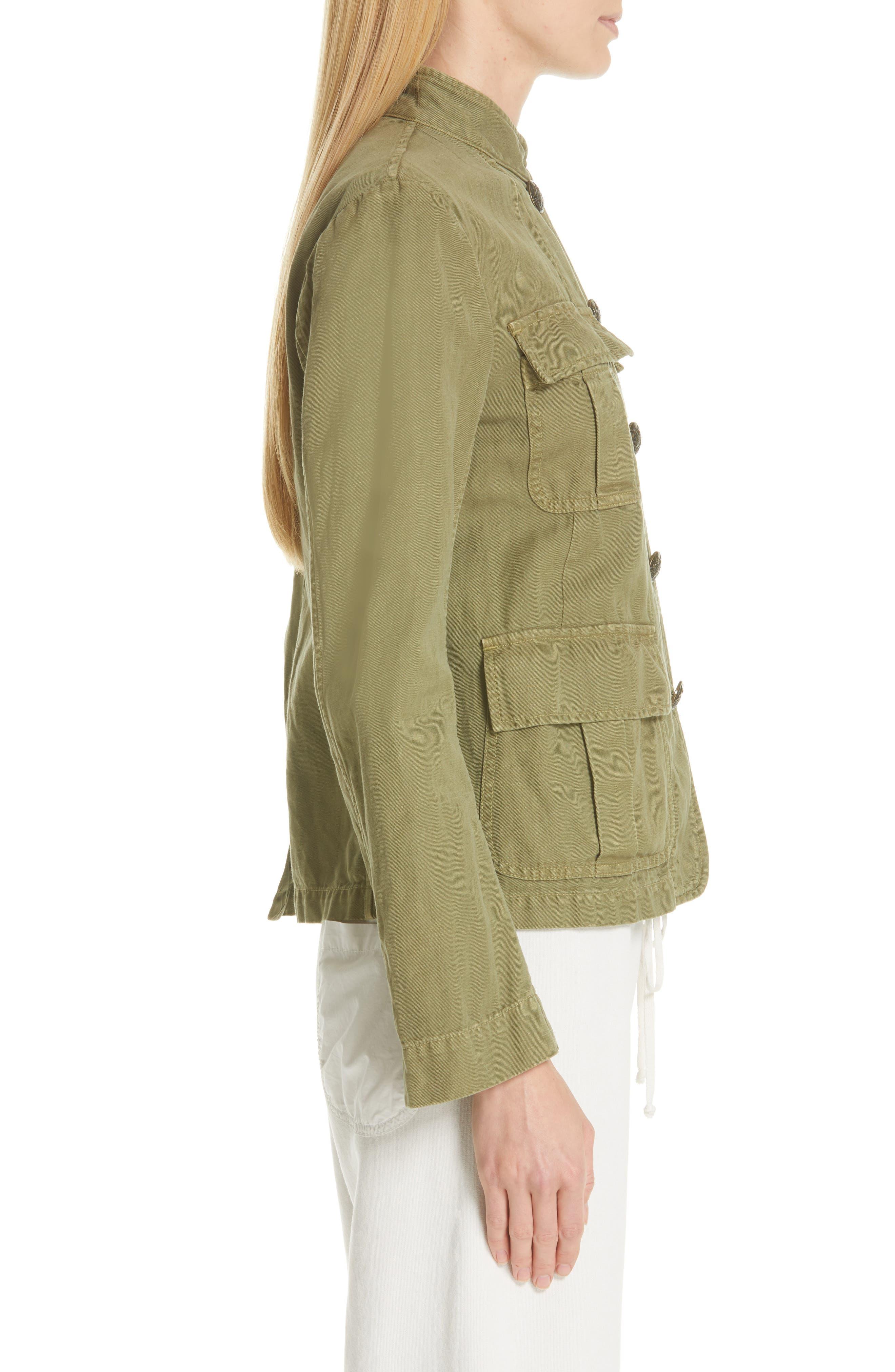 NILI LOTAN, Cambre Jacket, Alternate thumbnail 4, color, UNIFORM GREEN