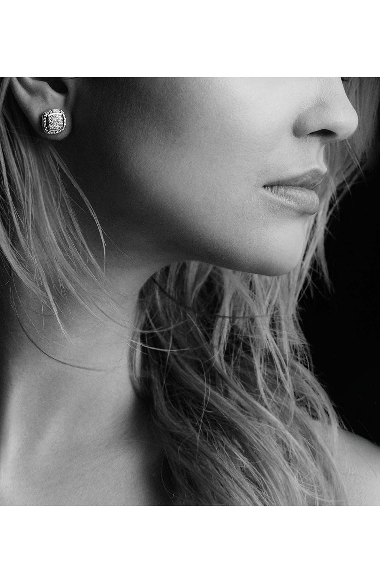 DAVID YURMAN, 'Albion' Earrings with Diamonds, Alternate thumbnail 2, color, DIAMOND