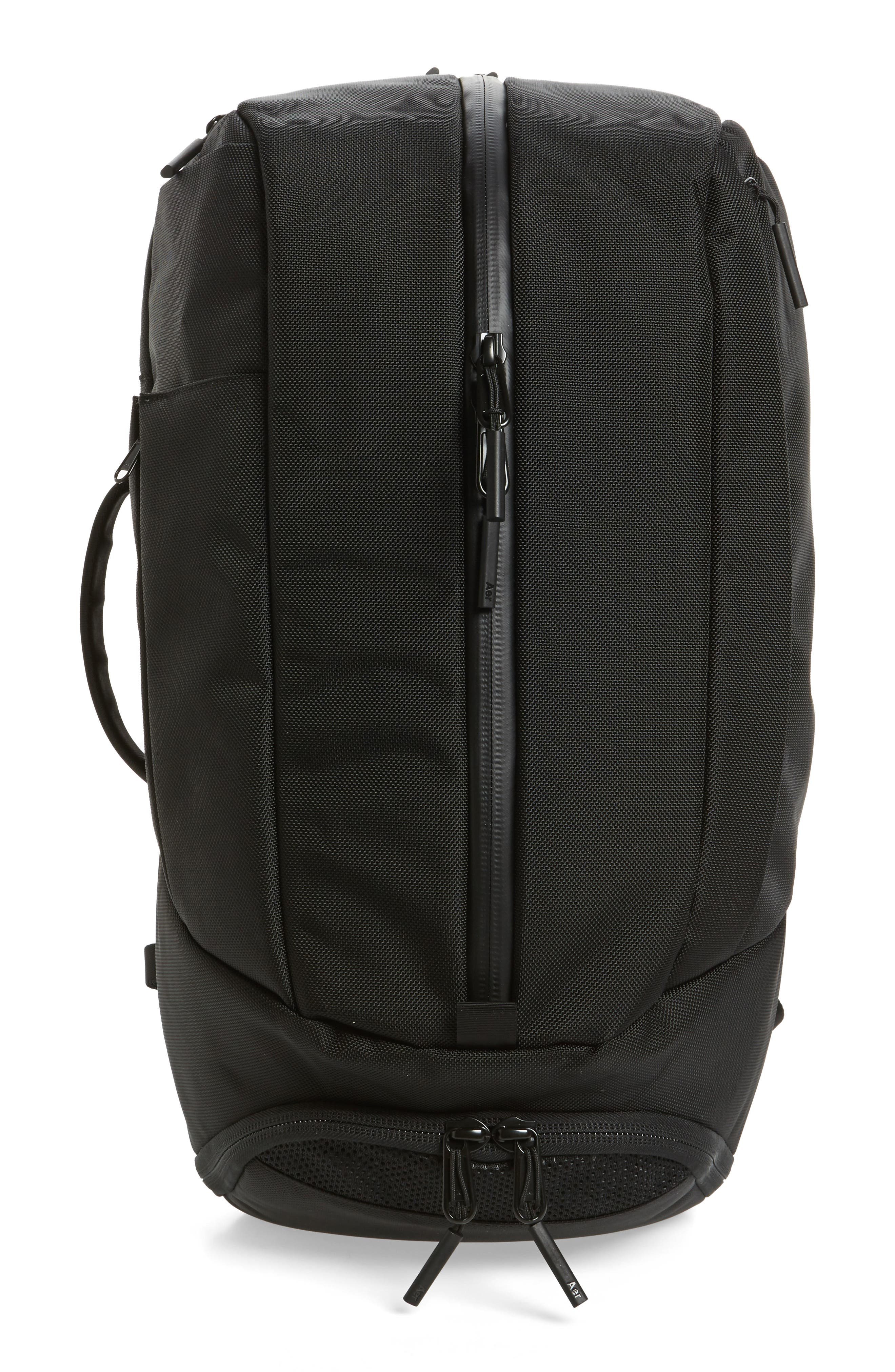 AER Duffel Pack 2 Convertible Backpack, Main, color, BLACK