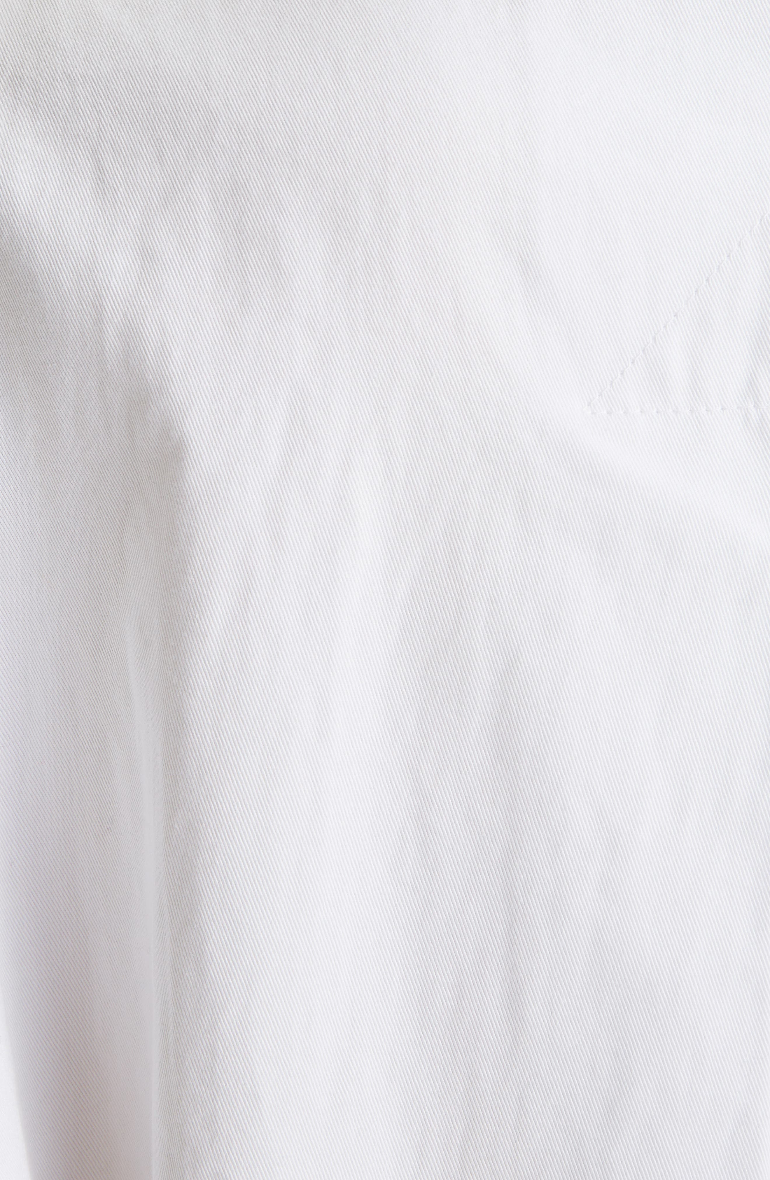 DRIES VAN NOTEN, Roomy Cotton Topper, Alternate thumbnail 5, color, WHITE