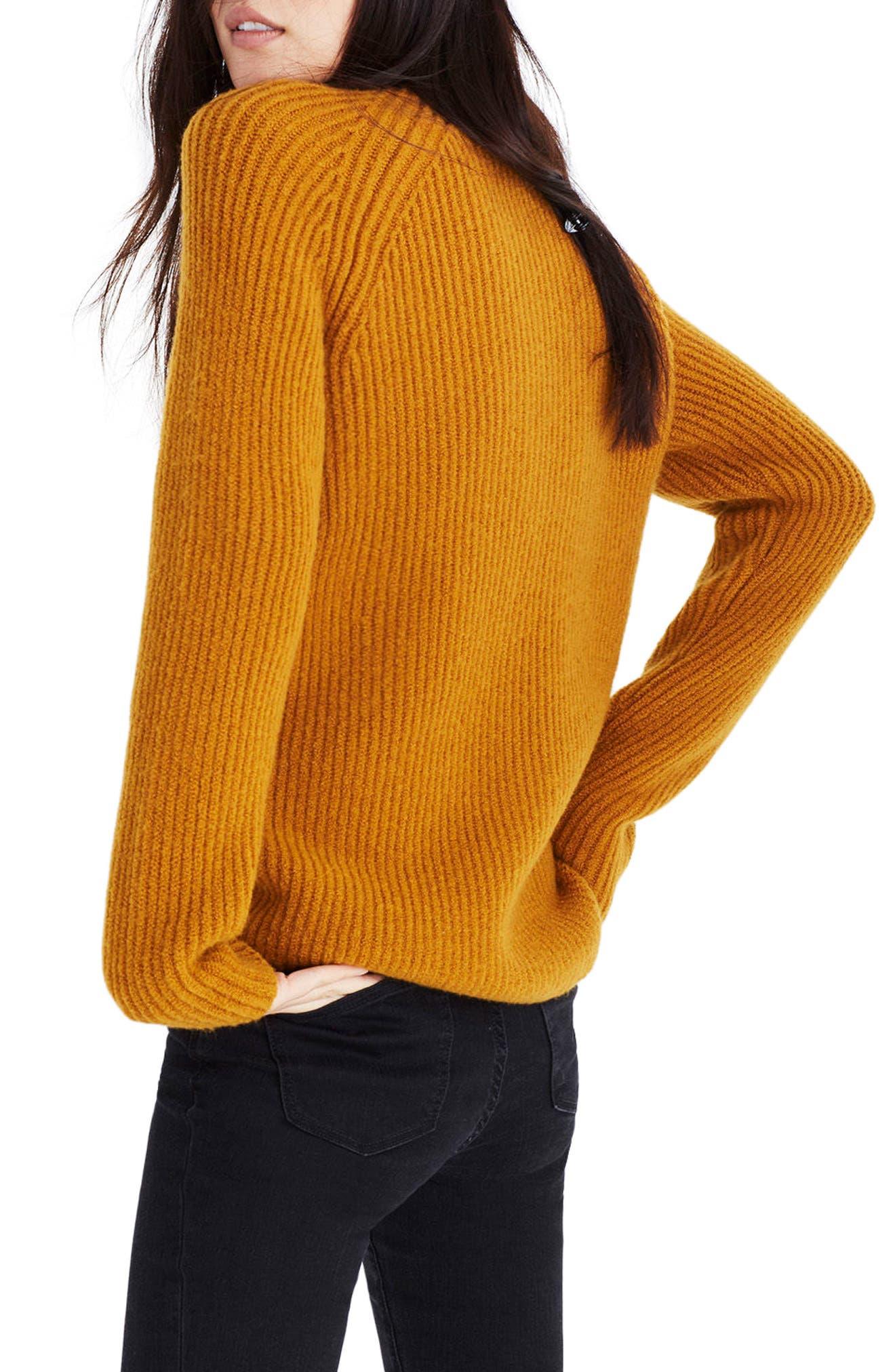 MADEWELL, Northfield Mock Neck Sweater, Alternate thumbnail 2, color, 800