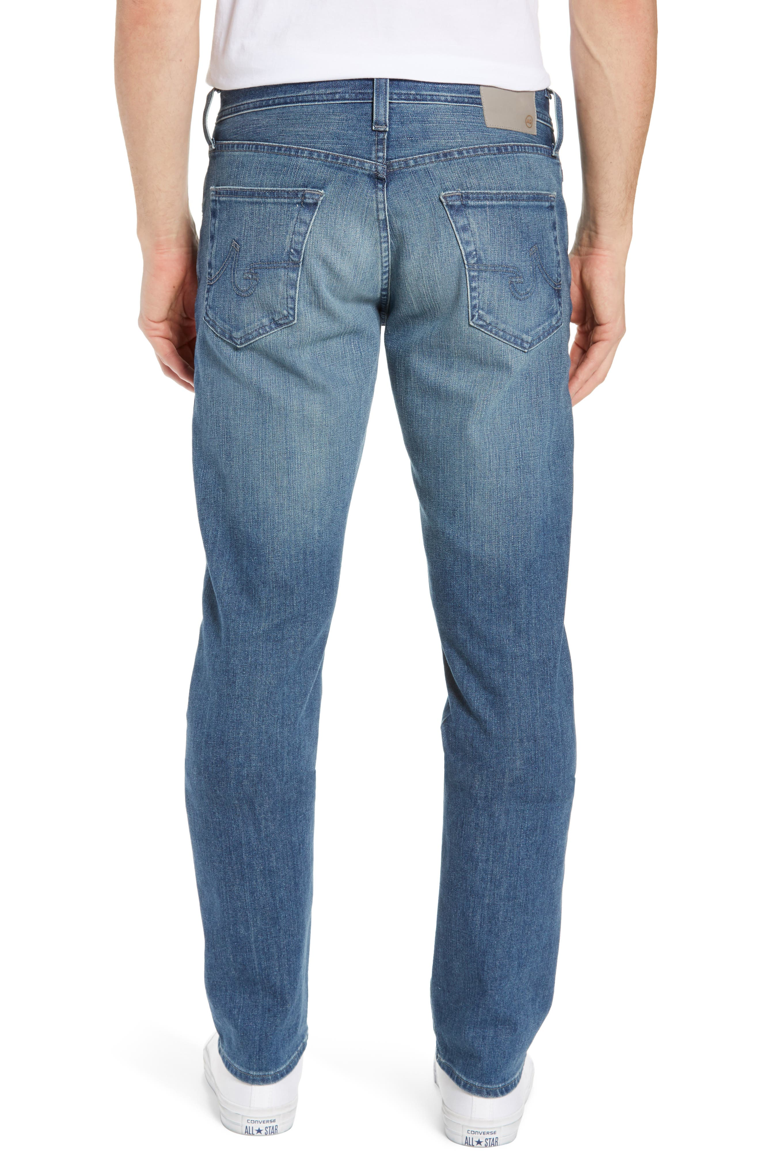 AG, Graduate Slim Straight Leg Jeans, Alternate thumbnail 2, color, APERTURE
