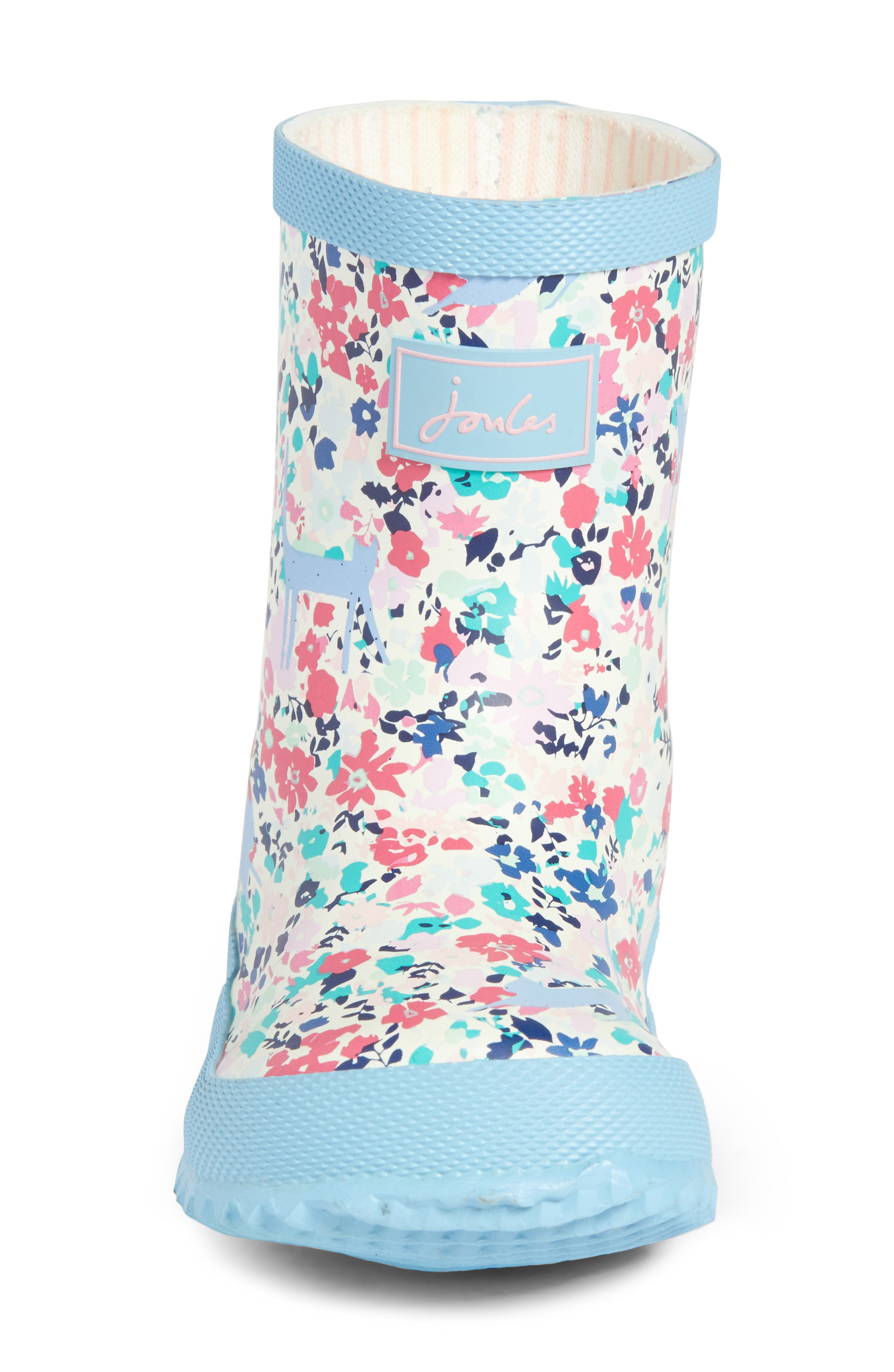 JOULES, Baby Welly Print Waterproof Boot, Alternate thumbnail 4, color, 406