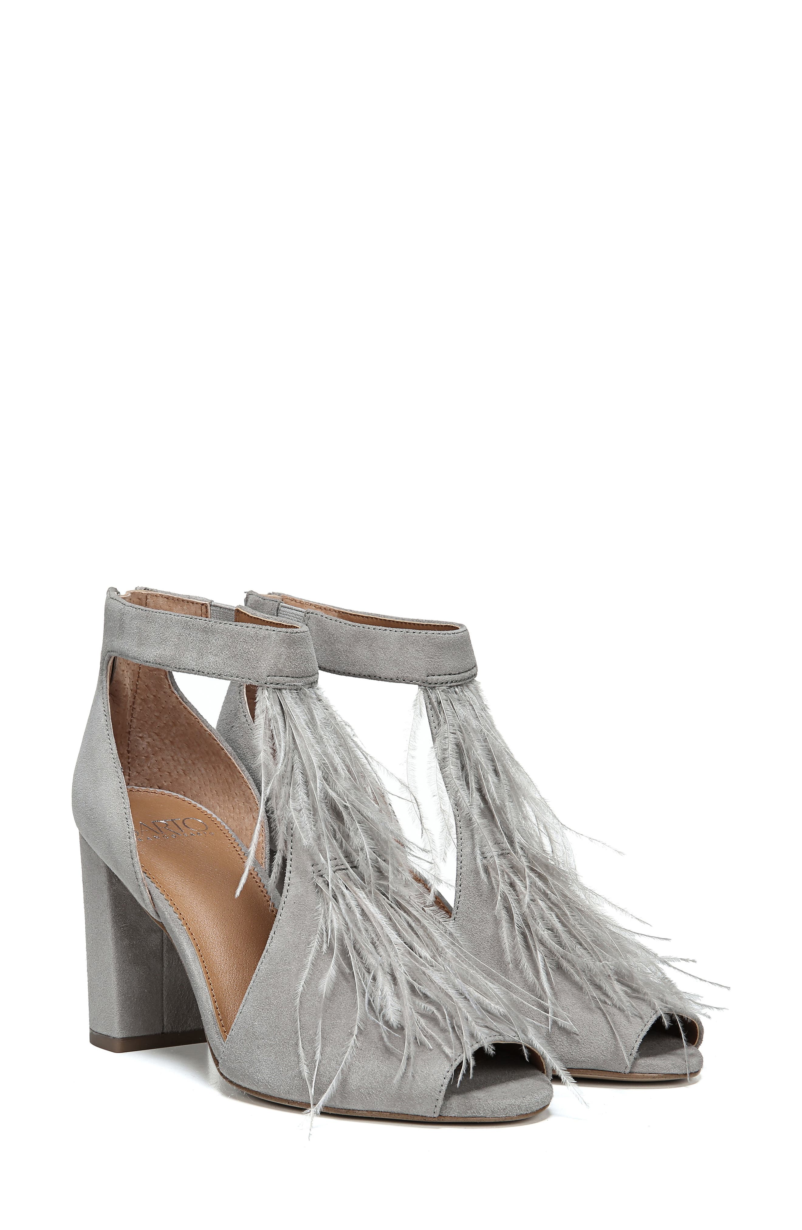 SARTO BY FRANCO SARTO, Olivette Sandal, Alternate thumbnail 7, color, GREYSTONE LEATHER