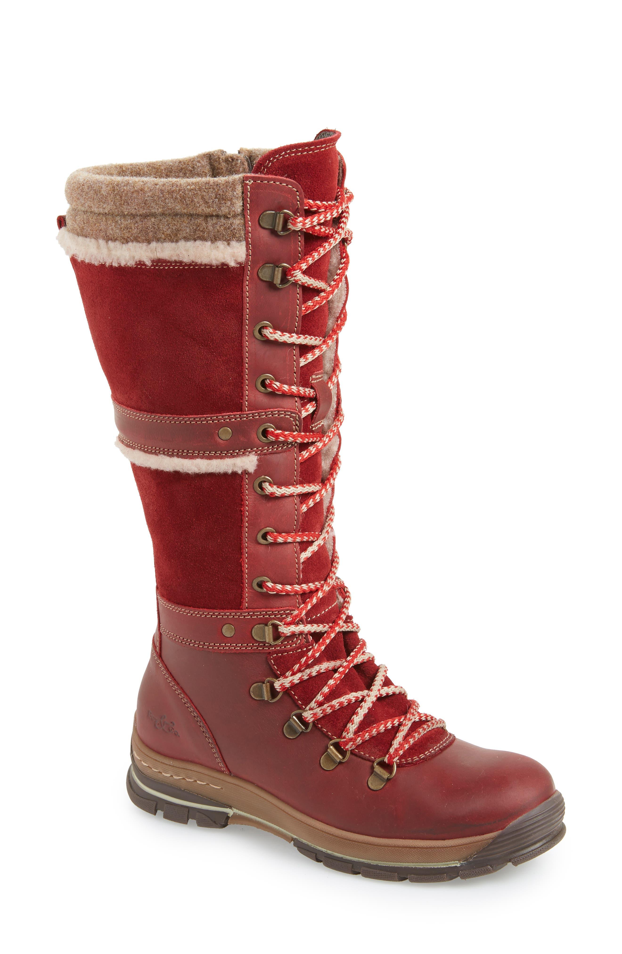 Bos. & Co. Gabriella Waterproof Boot, Red