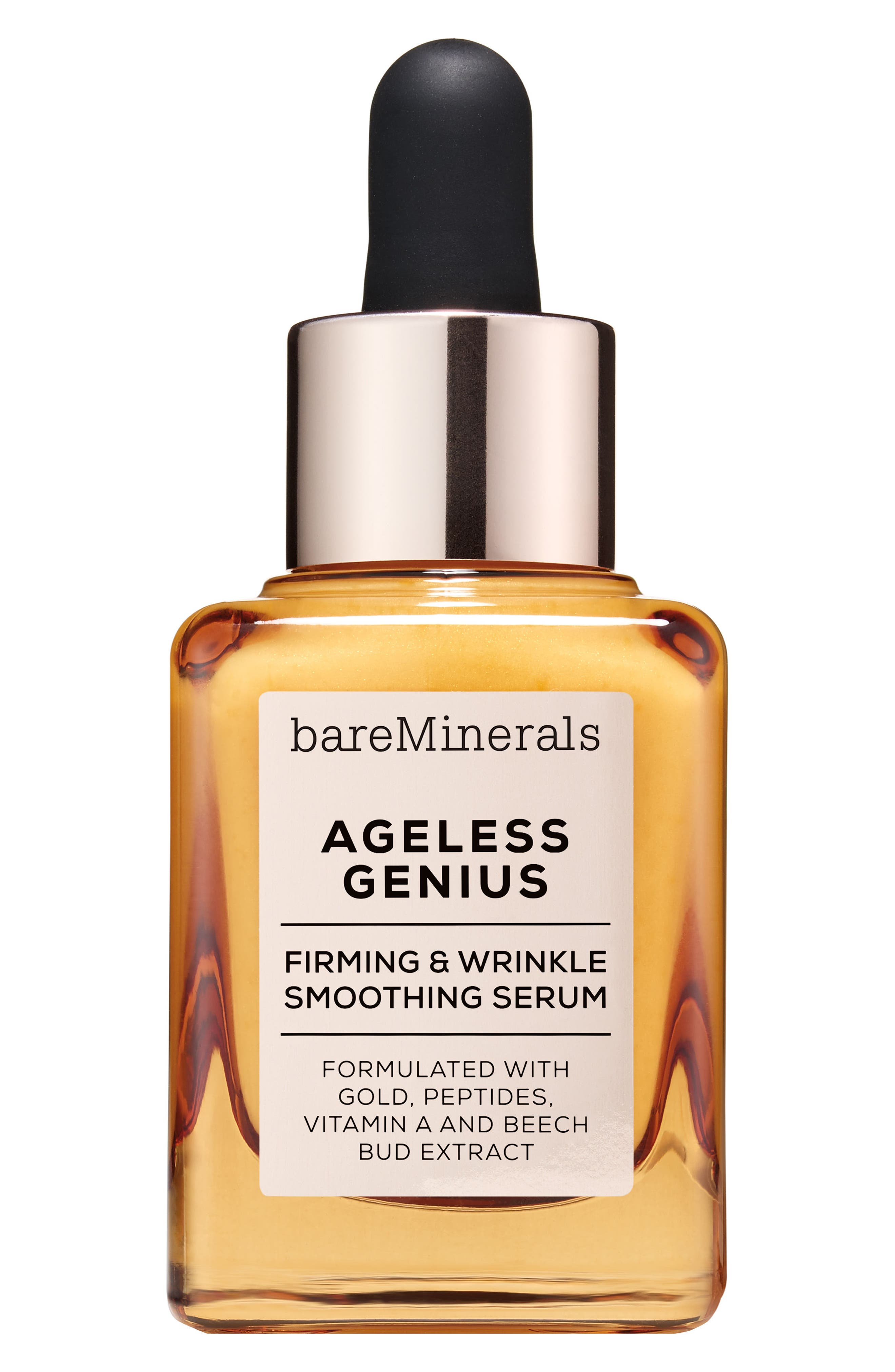 BAREMINERALS<SUP>®</SUP>, Ageless Genius Firming & Wrinkle Smoothing Serum, Main thumbnail 1, color, NO COLOR