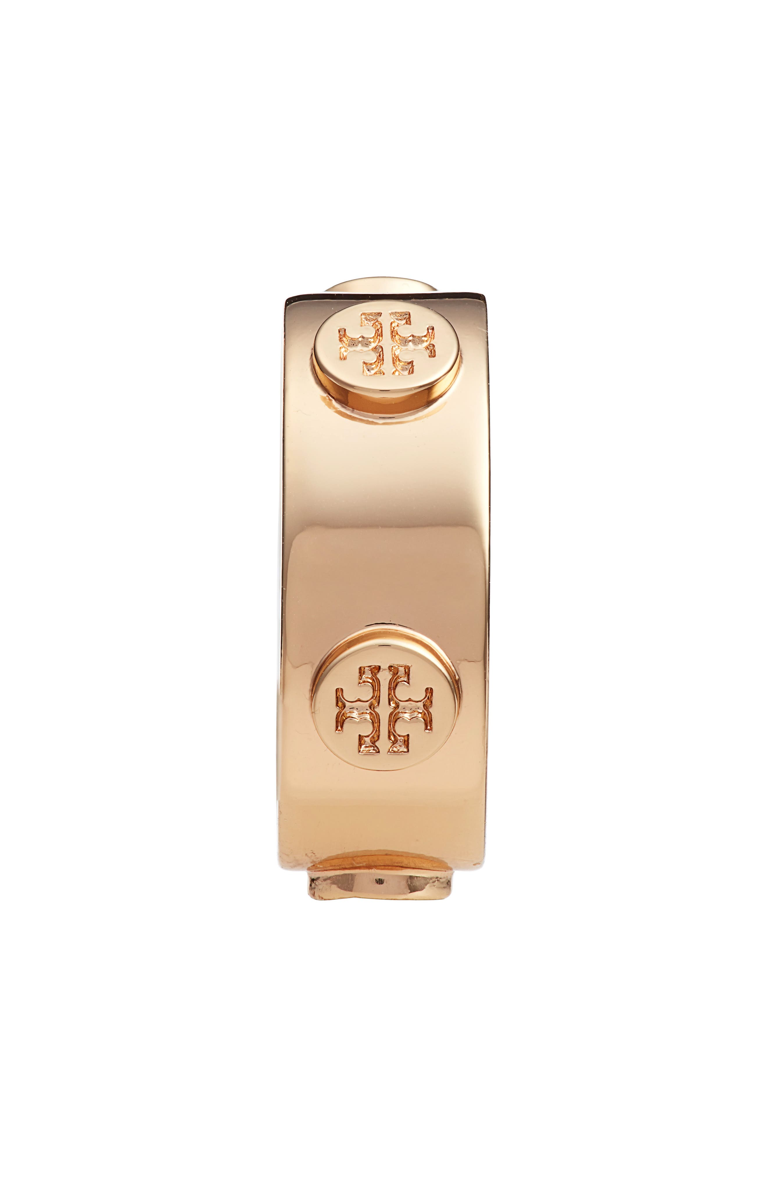 TORY BURCH, Delicate Logo Ring, Alternate thumbnail 2, color, TORY GOLD