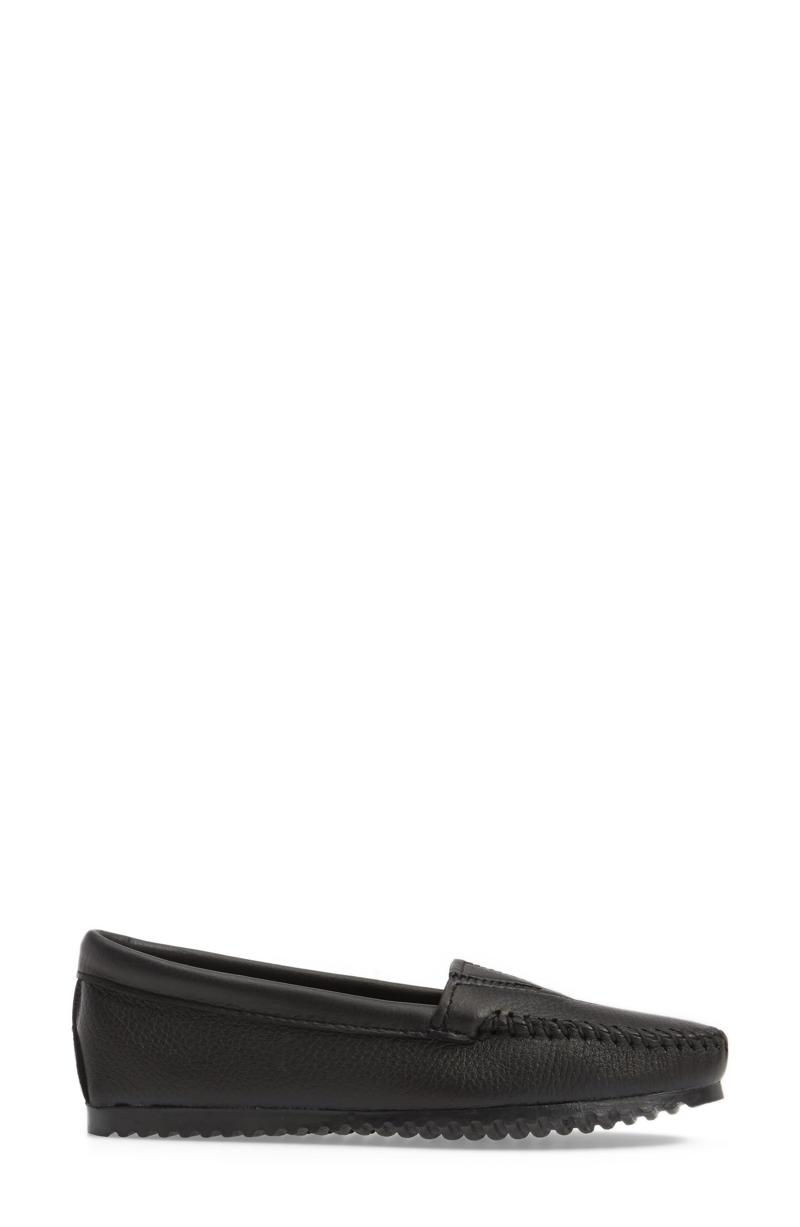 MINNETONKA, Moccasin, Alternate thumbnail 3, color, BLACK