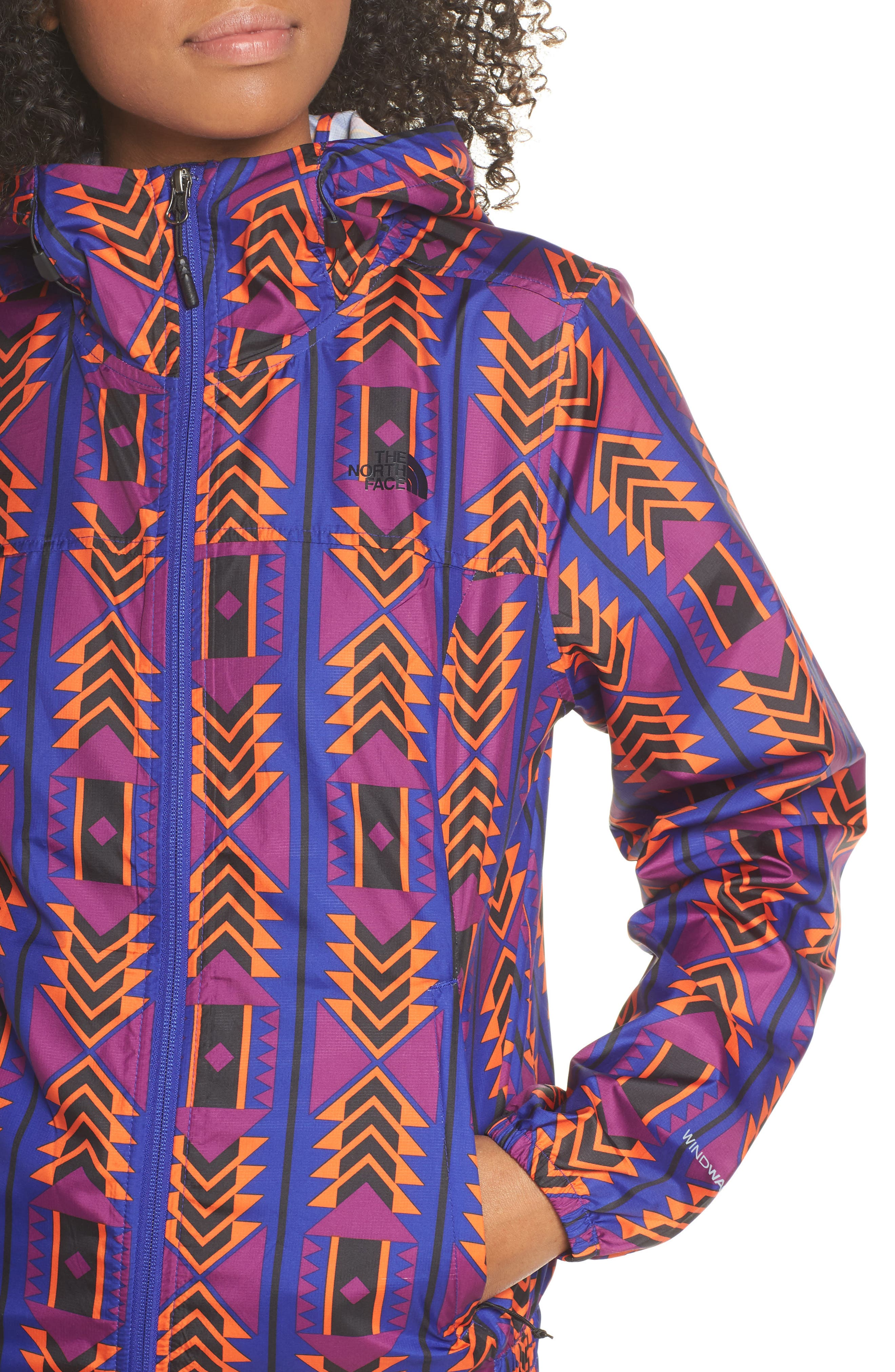 THE NORTH FACE, Print Cyclone 3.0 WindWall<sup>®</sup> Jacket, Alternate thumbnail 5, color, AZTEC BLUE 1992 RAGE PRINT