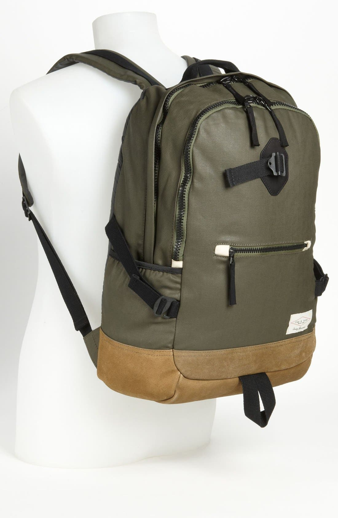 RAG & BONE, Canvas Backpack, Alternate thumbnail 3, color, 352
