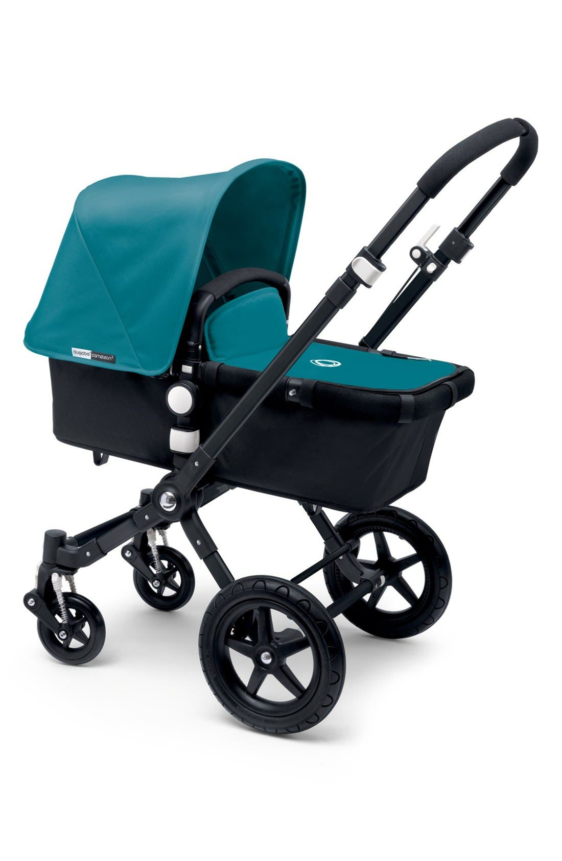 BUGABOO, 'Cameleon³' Tailored Fabric Set with Extendable Canopy, Main thumbnail 1, color, PETROL BLUE