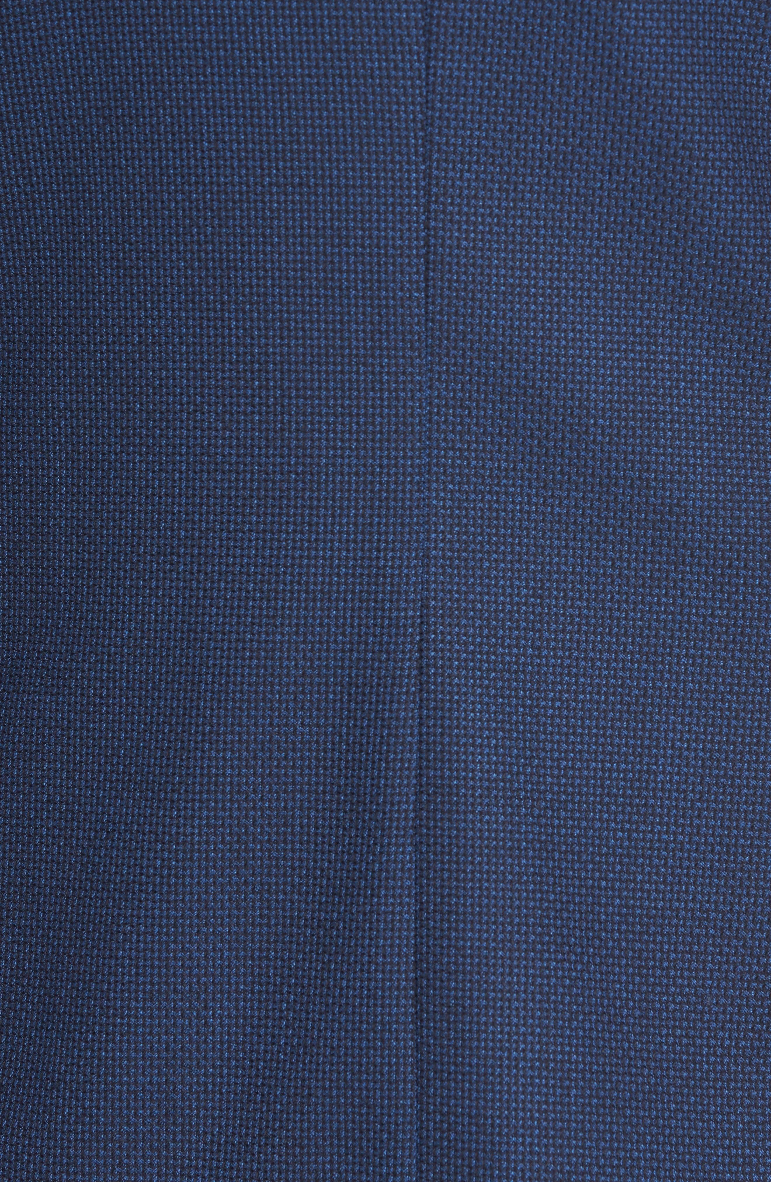 BOSS, Nold Slim Fit Wool Blazer, Alternate thumbnail 6, color, BLUE