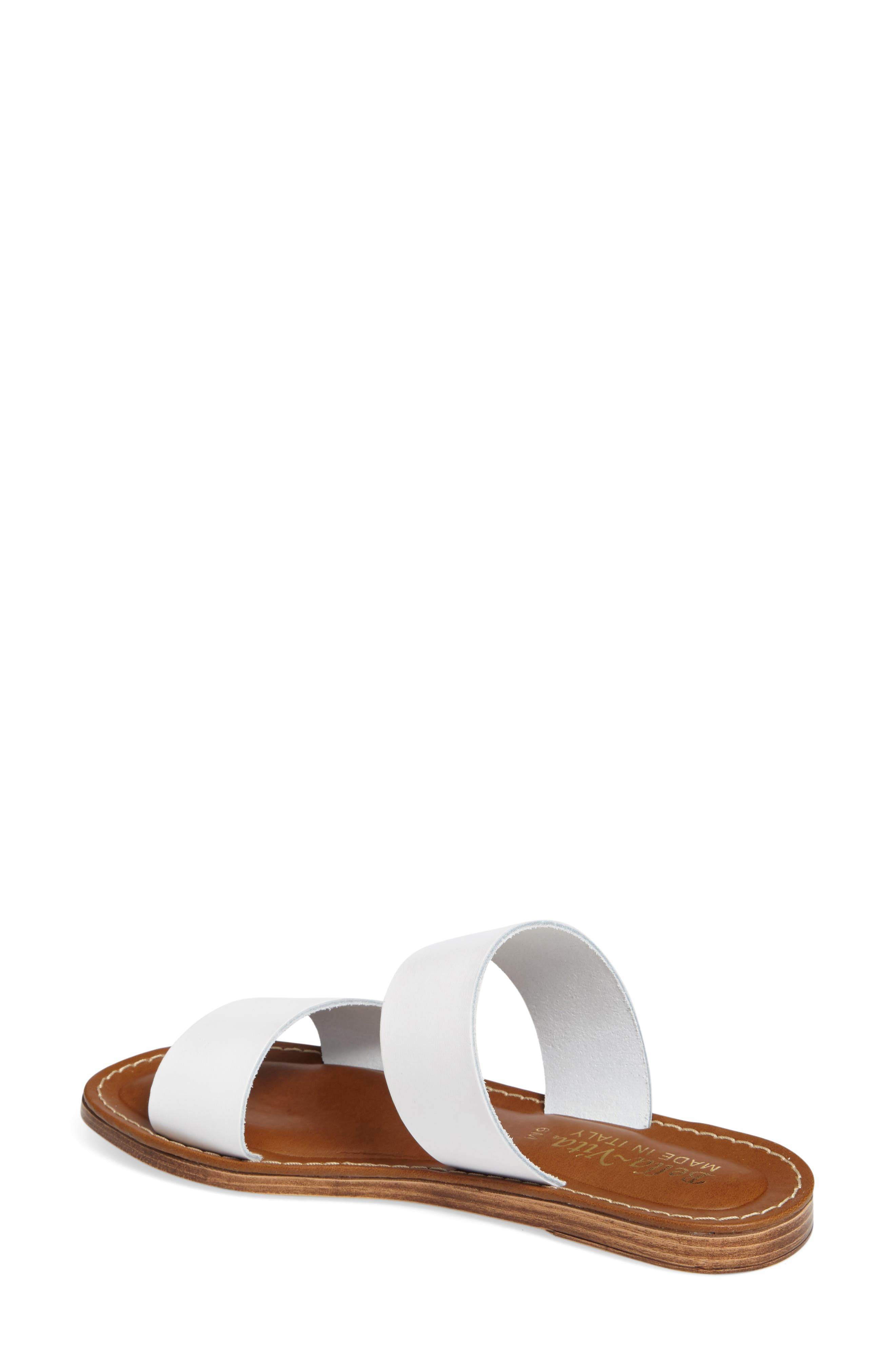 BELLA VITA, Imo Slide Sandal, Alternate thumbnail 2, color, WHITE LEATHER
