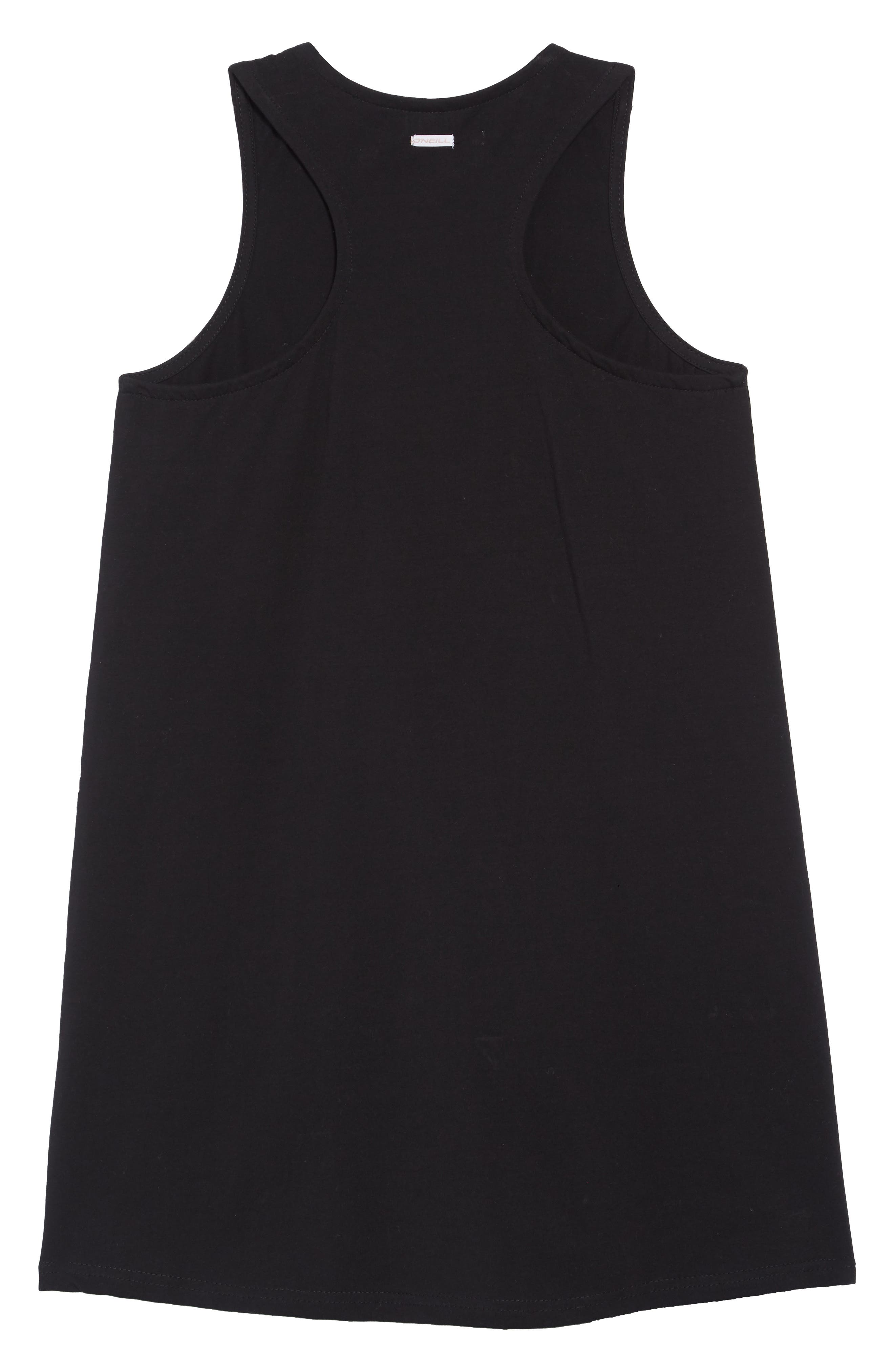 O'NEILL, Cannon Knit Tank Dress, Alternate thumbnail 4, color, BLACK
