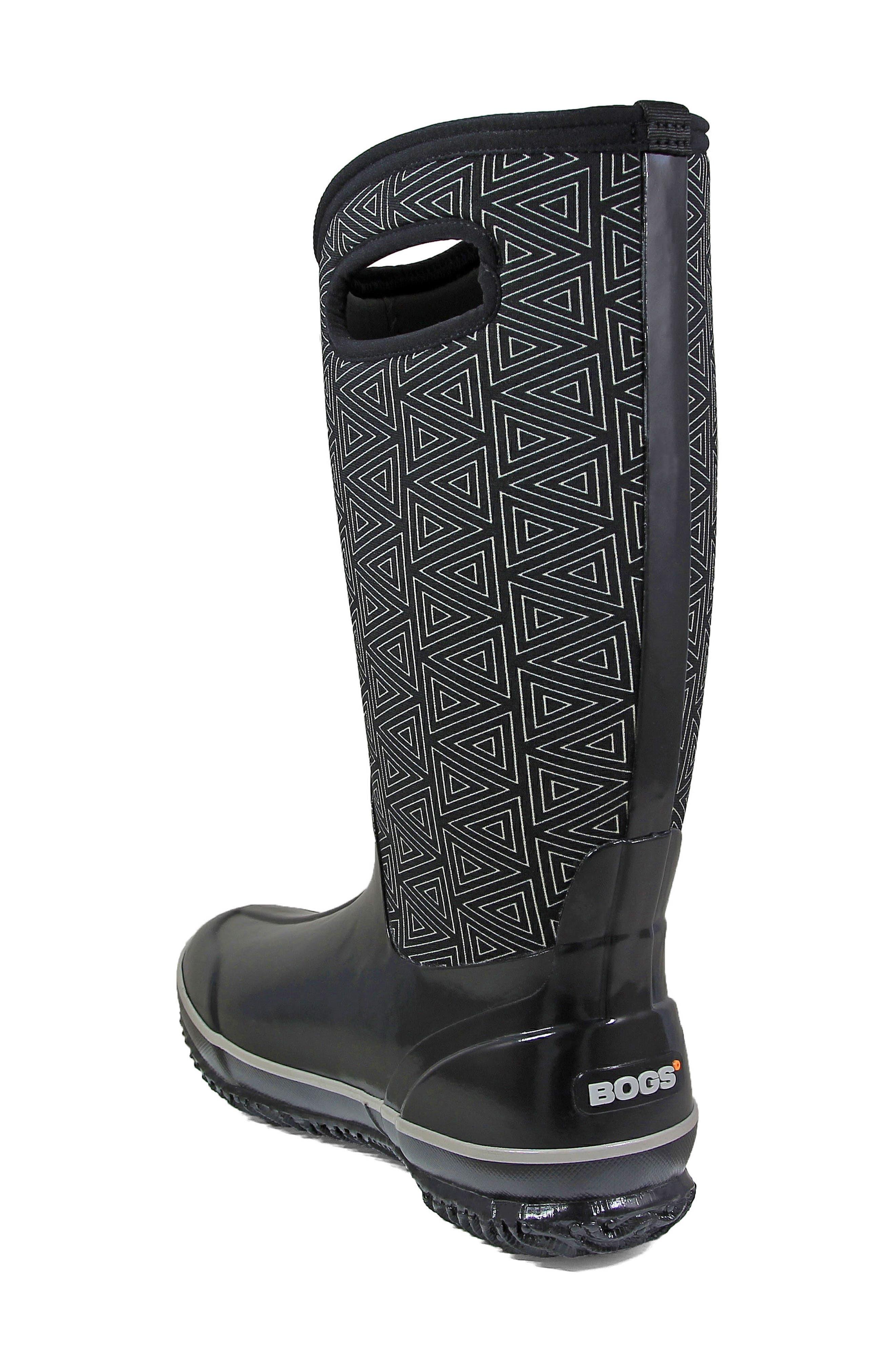 BOGS, Classic Triangles Waterproof Subzero Insulated Boot, Alternate thumbnail 2, color, 009