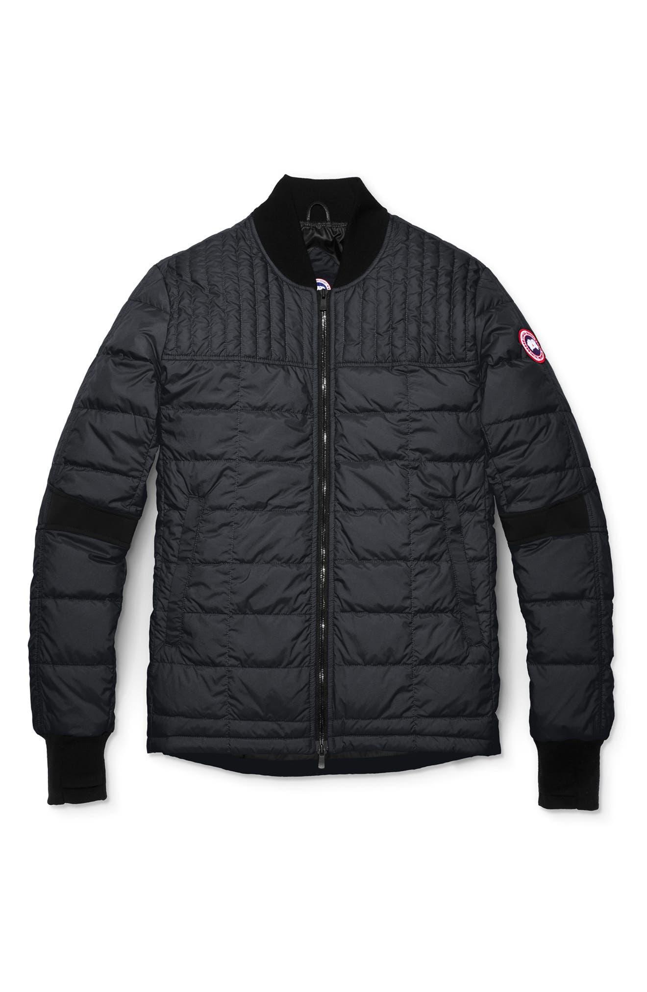 CANADA GOOSE, Dunham Slim Fit Packable Down Jacket, Main thumbnail 1, color, 001