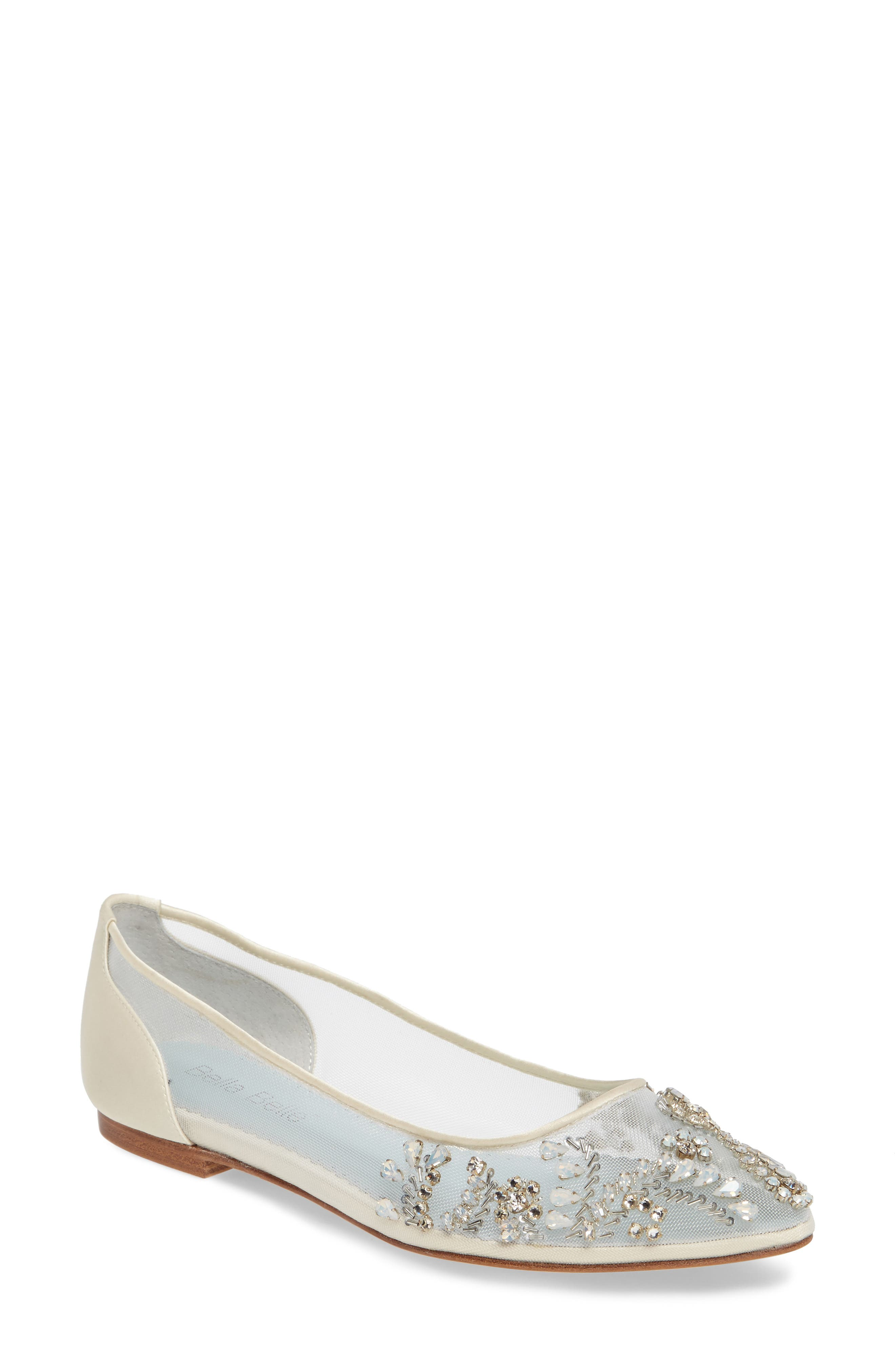 BELLA BELLE, Willow Skimmer Flat, Main thumbnail 1, color, IVORY FABRIC