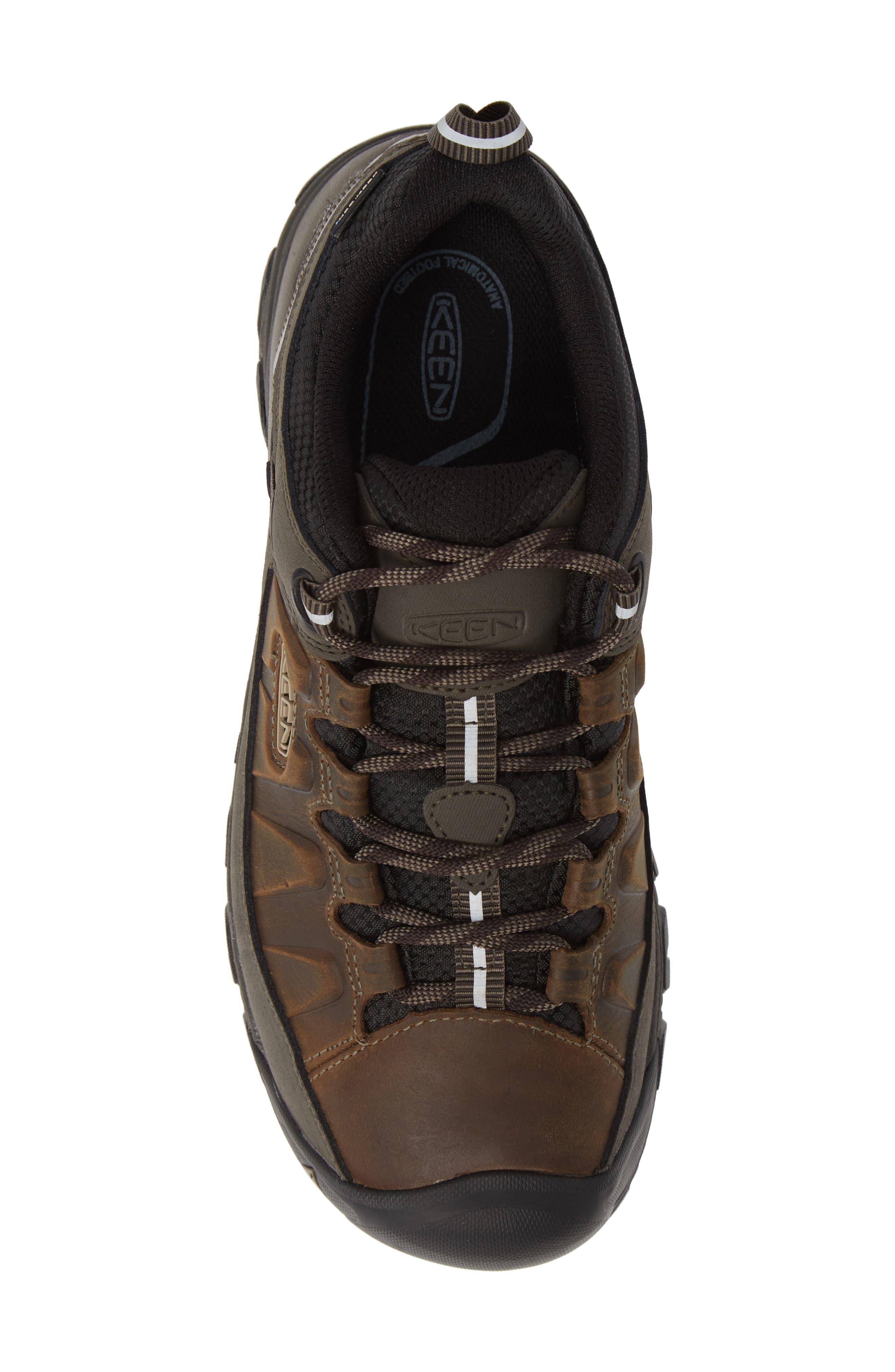 KEEN, Targhee III Waterproof Wide Hiking Shoe, Alternate thumbnail 5, color, BUNGEE CORD/ BLACK