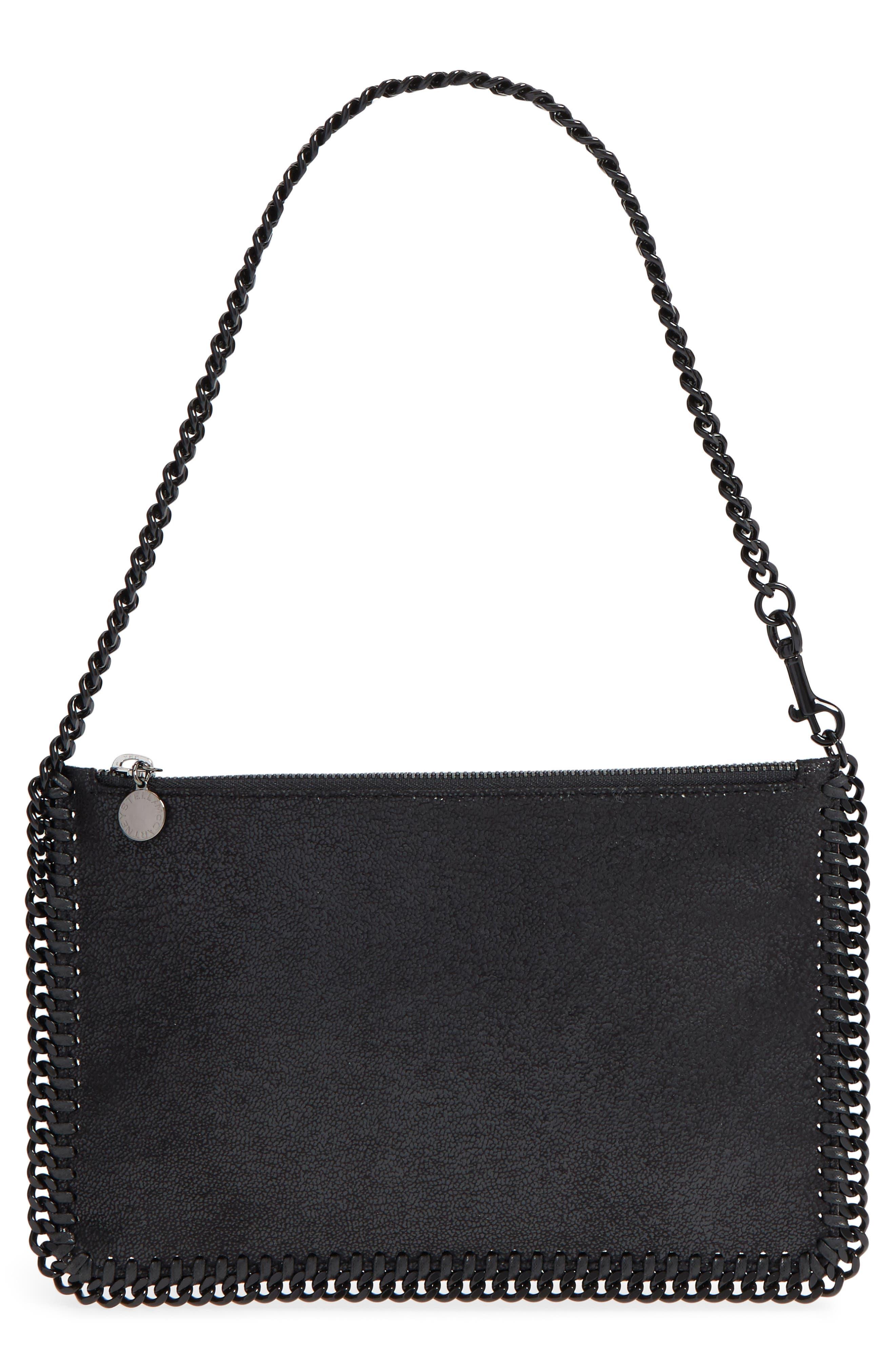 STELLA MCCARTNEY, Falabella Shaggy Deer Faux Leather Handbag, Main thumbnail 1, color, 001