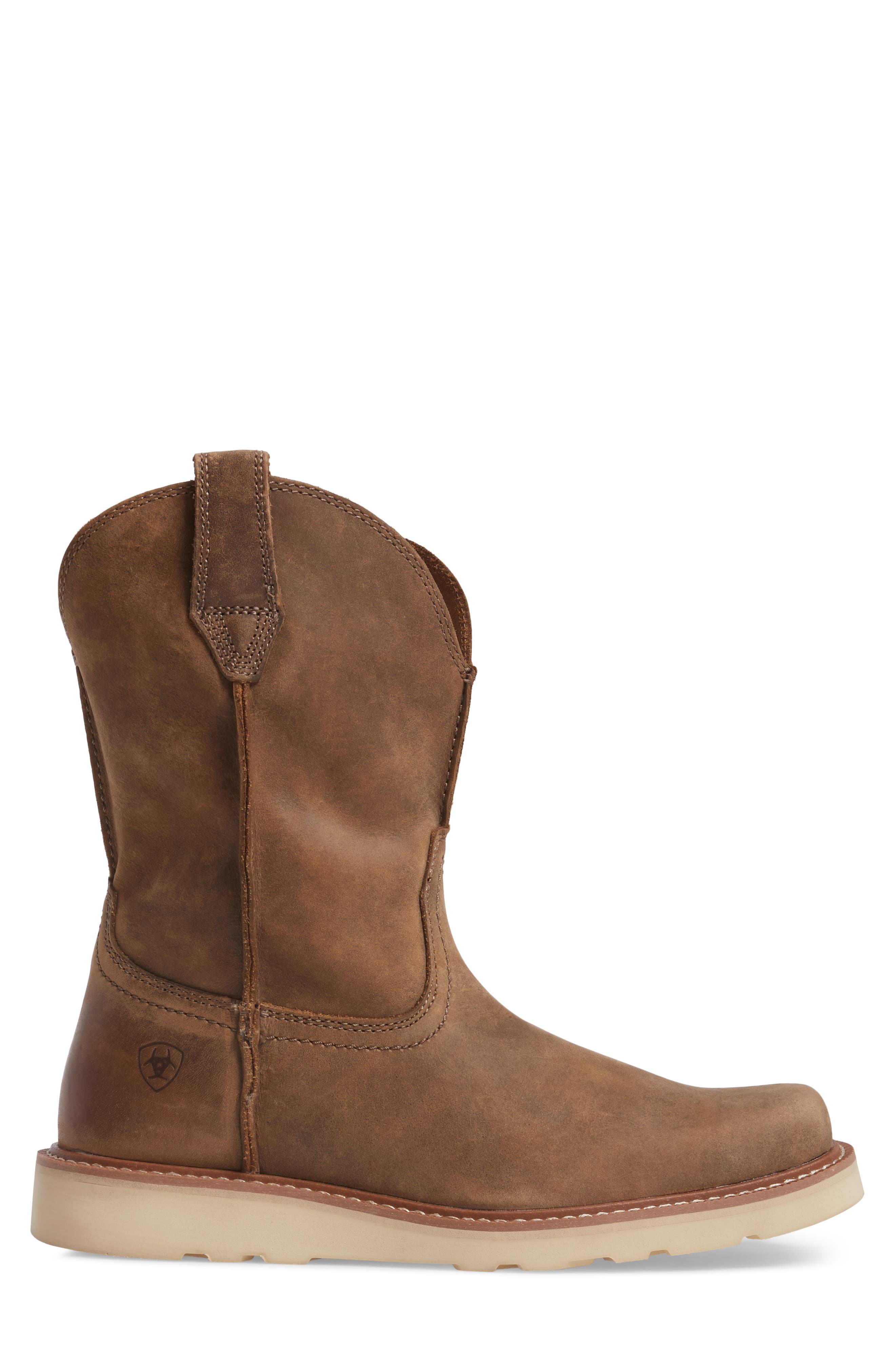 ARIAT, Rambler Tall Boot, Alternate thumbnail 3, color, BROWN BOMBER LEATHER
