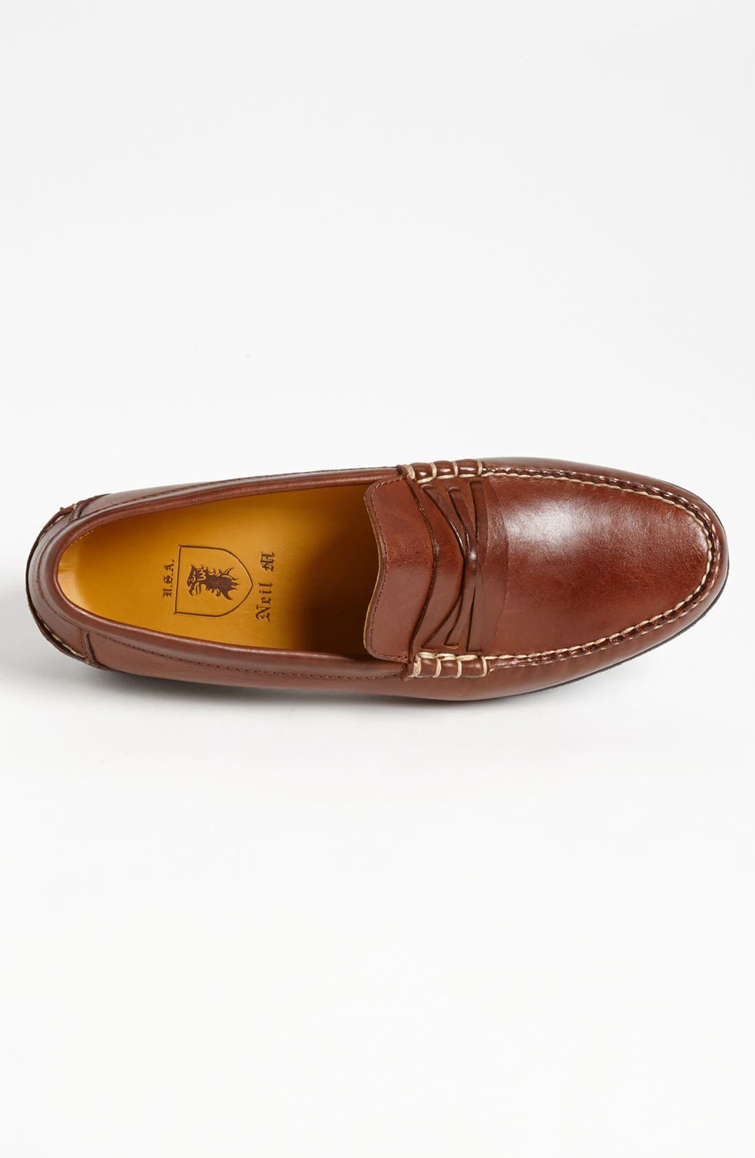 NEIL M, 'Truman' Loafer, Alternate thumbnail 3, color, CHESTNUT