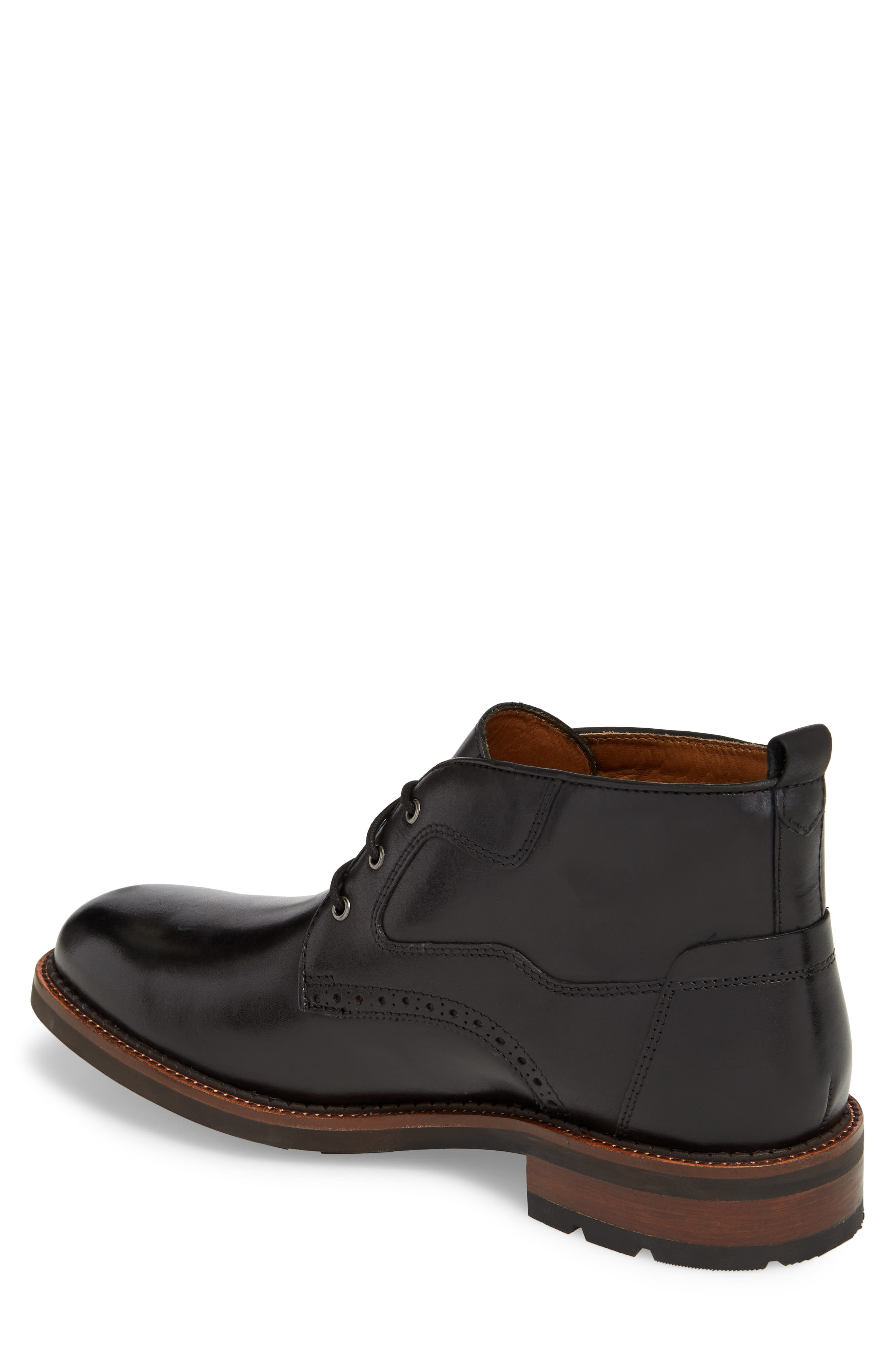 J&M 1850, Fullerton Chukka Boot, Alternate thumbnail 2, color, BLACK