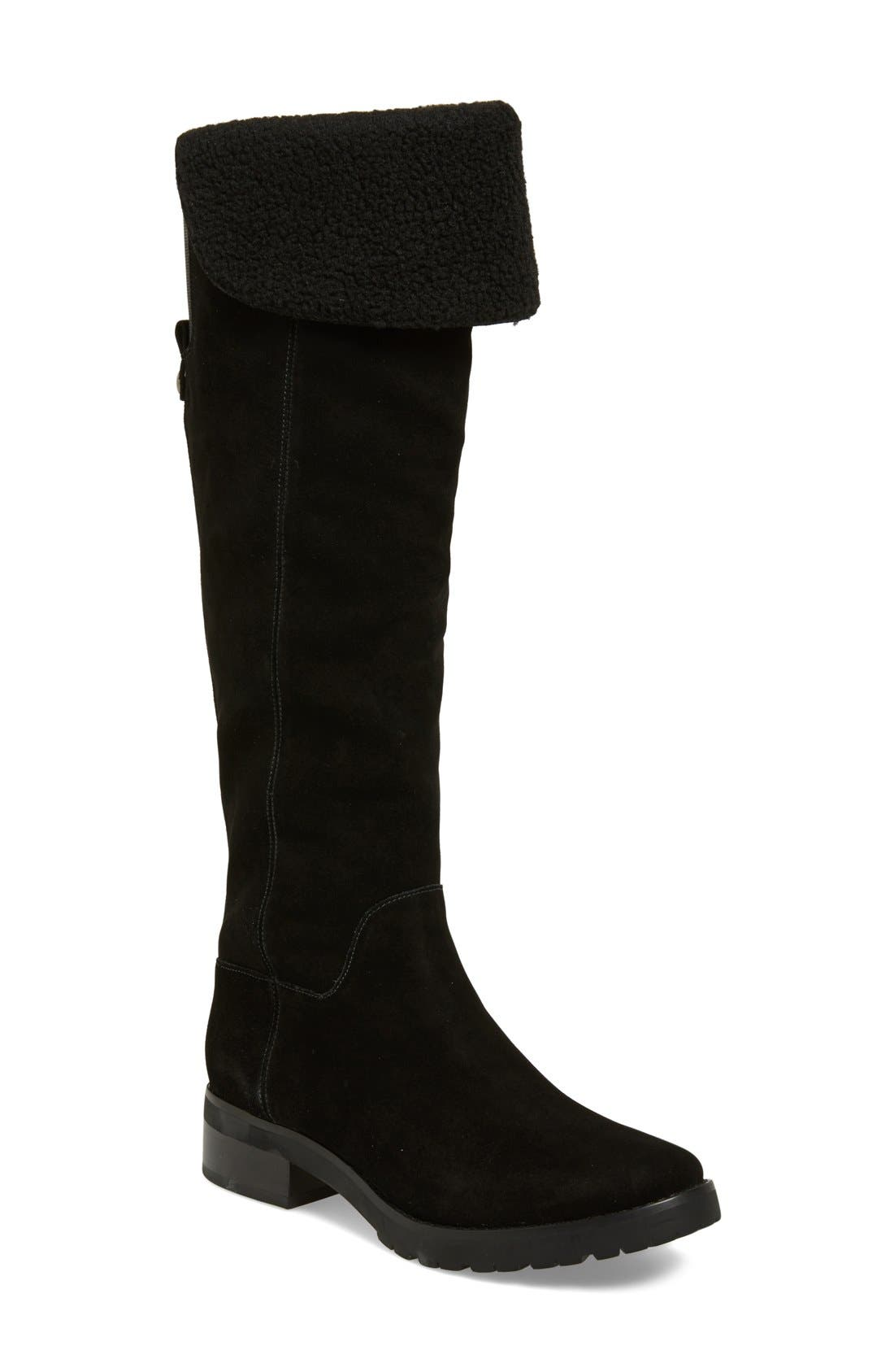 MICHAEL MICHAEL KORS 'Whitaker' Water Resistant Tall Boot, Main, color, 001