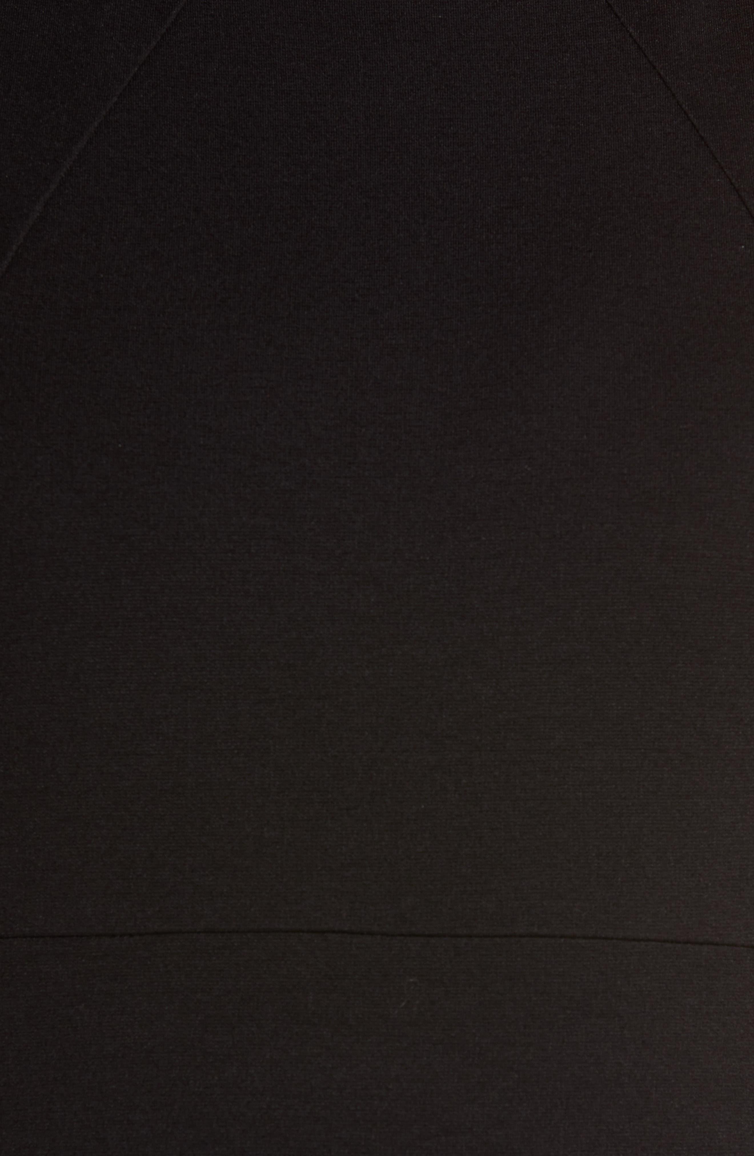 CHARLES HENRY, Sleeveless Sheath Dress, Alternate thumbnail 6, color, BLACK