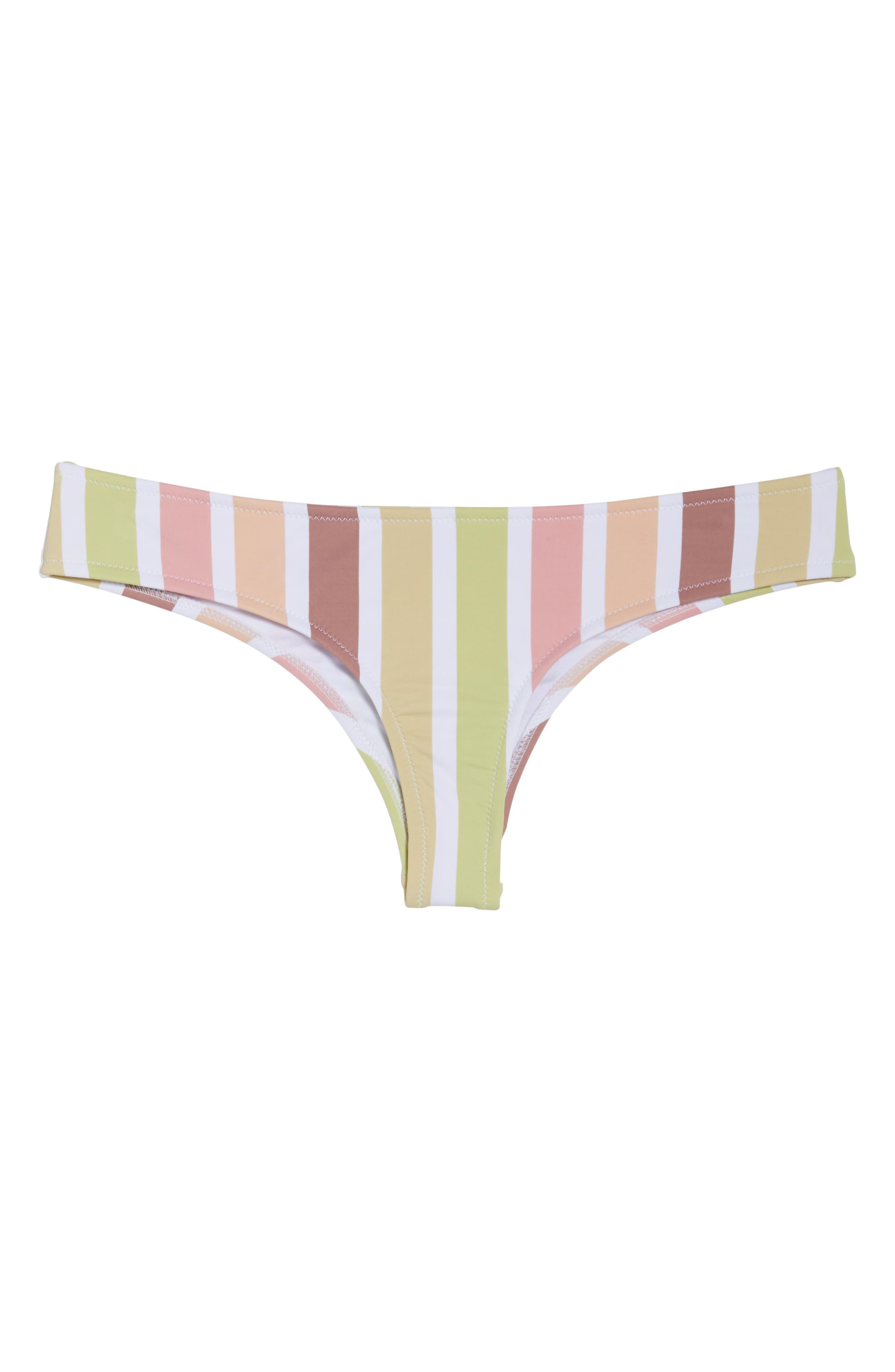 RHYTHM, Zimbabwe Cheeky Bikini Bottoms, Alternate thumbnail 3, color, 956