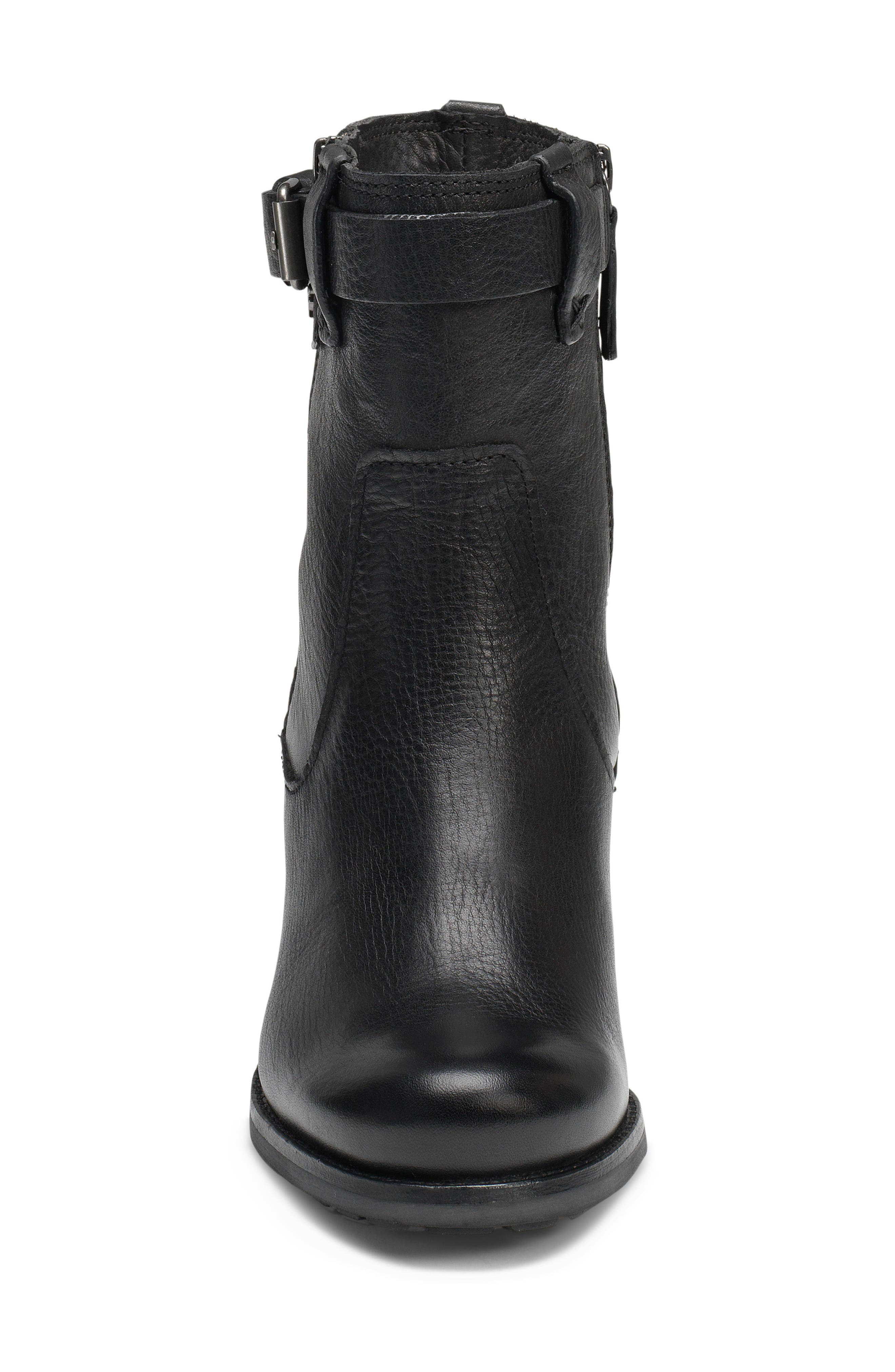 TRASK, Madison Waterproof Boot, Alternate thumbnail 4, color, BLACK LEATHER