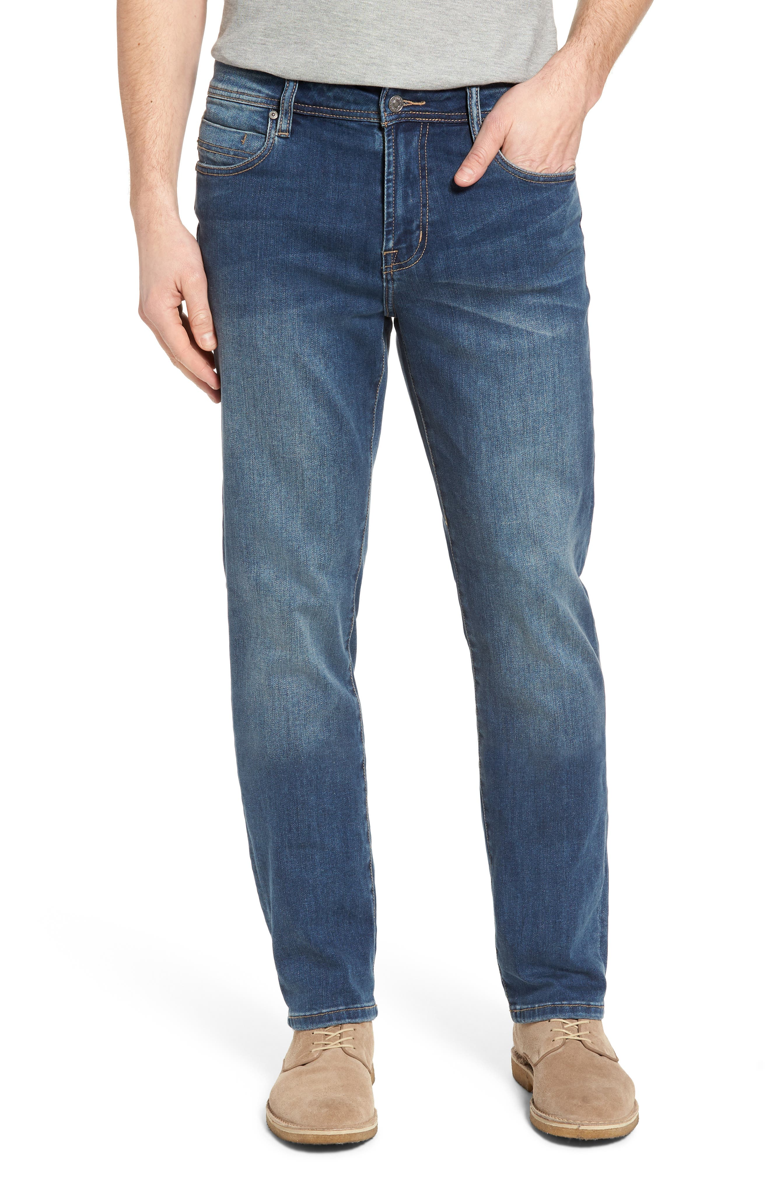 LIVERPOOL, Regent Relaxed Straight Leg Jeans, Main thumbnail 1, color, CHATSWORTH