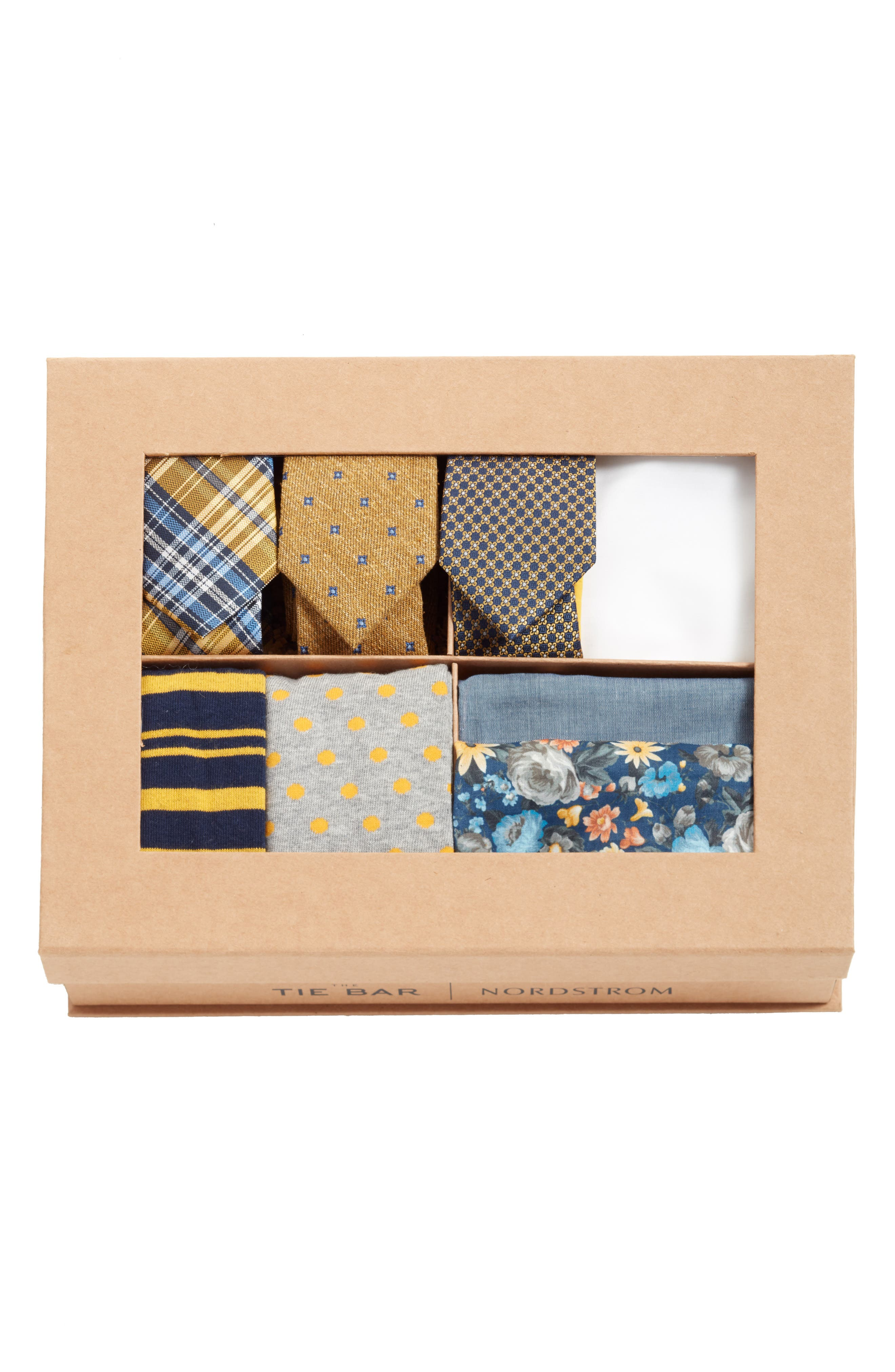 THE TIE BAR, Large Yellow Style Box, Alternate thumbnail 2, color, 700