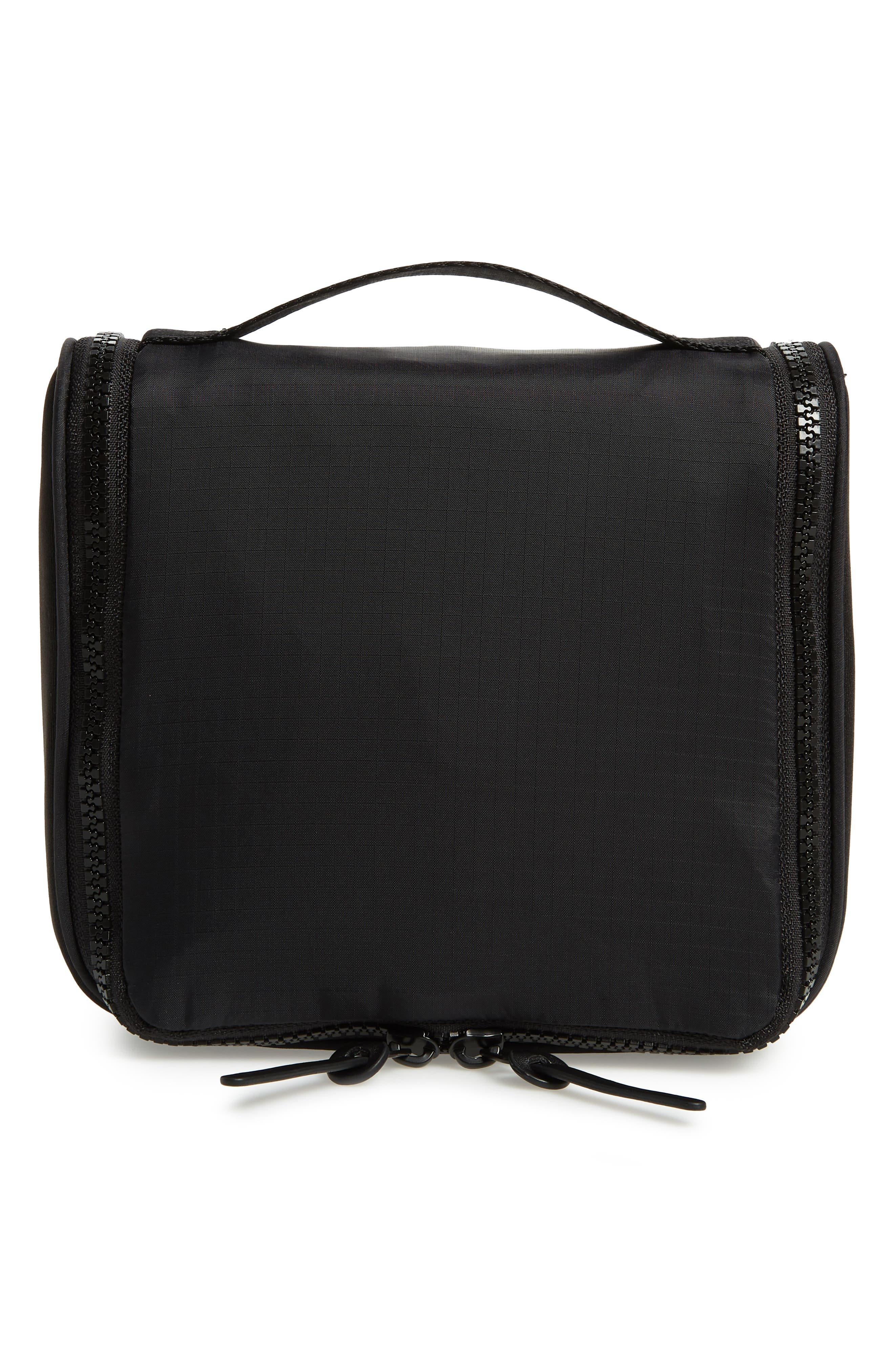 NORDSTROM, Toiletry Bag, Main thumbnail 1, color, BLACK