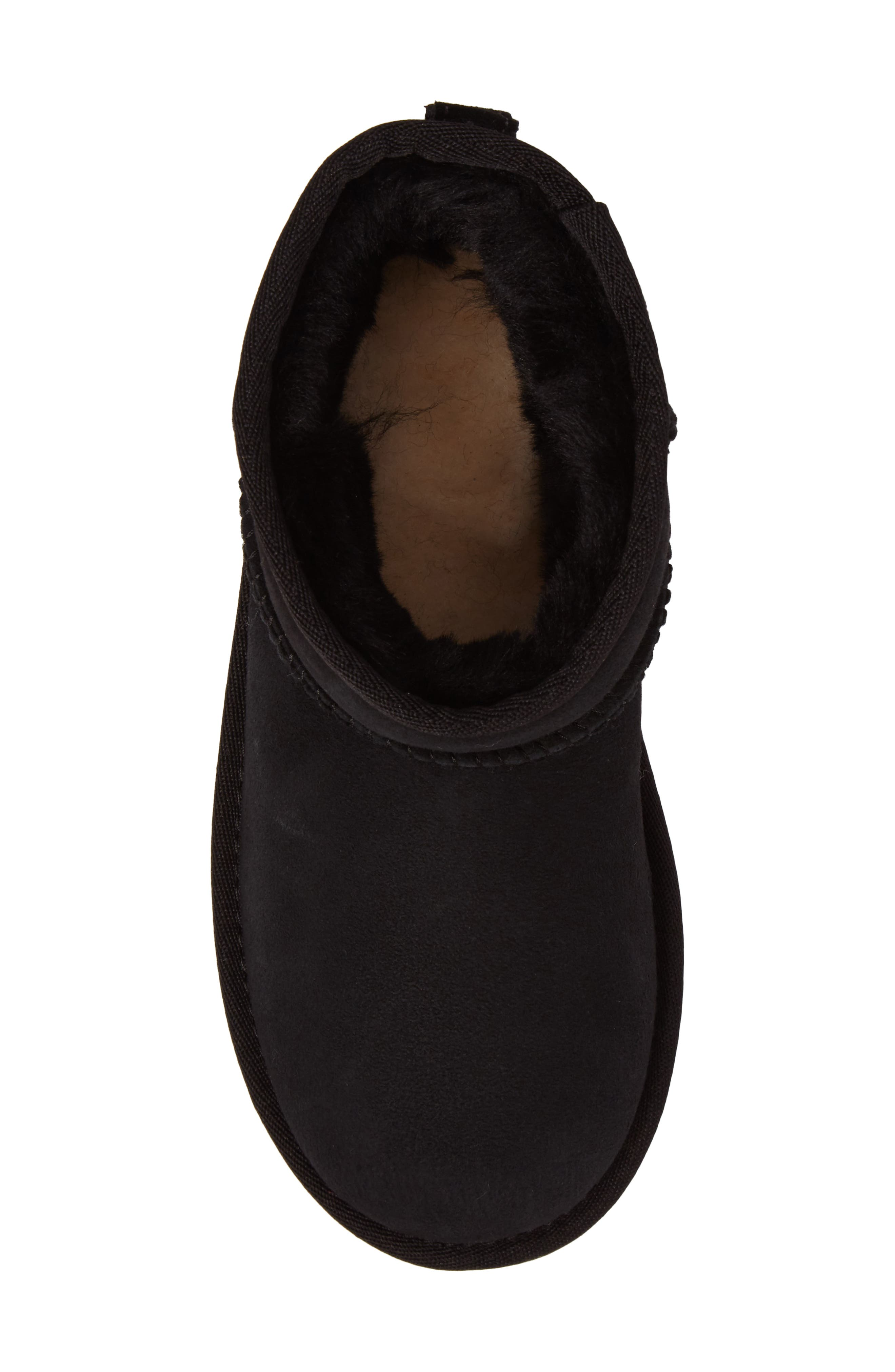 UGG<SUP>®</SUP>, Classic Mini II Water-Resistant Genuine Shearling Boot, Alternate thumbnail 5, color, BLACK