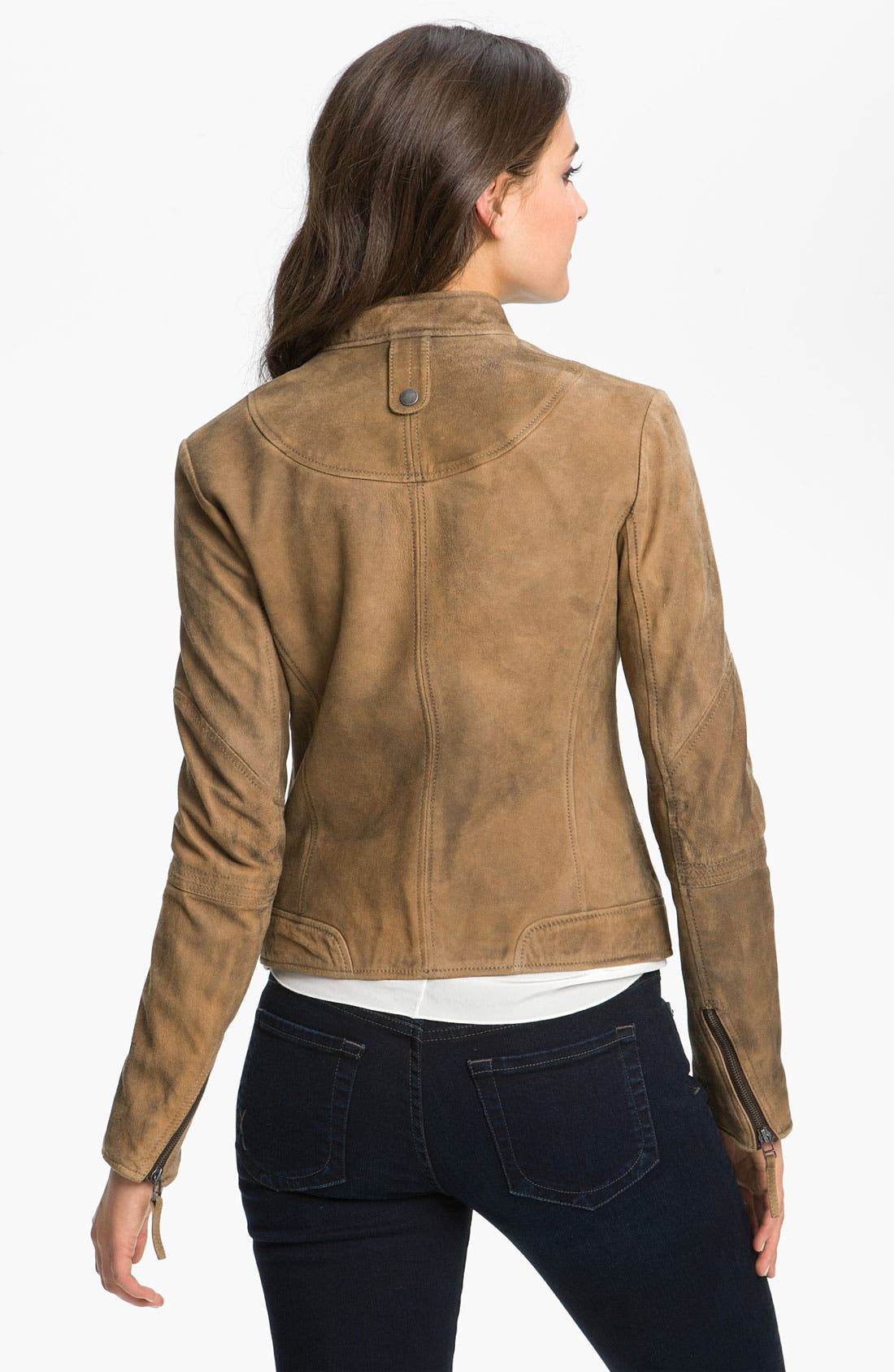 BUFFALO BY DAVID BITTON, Distressed Leather Jacket, Alternate thumbnail 2, color, 250