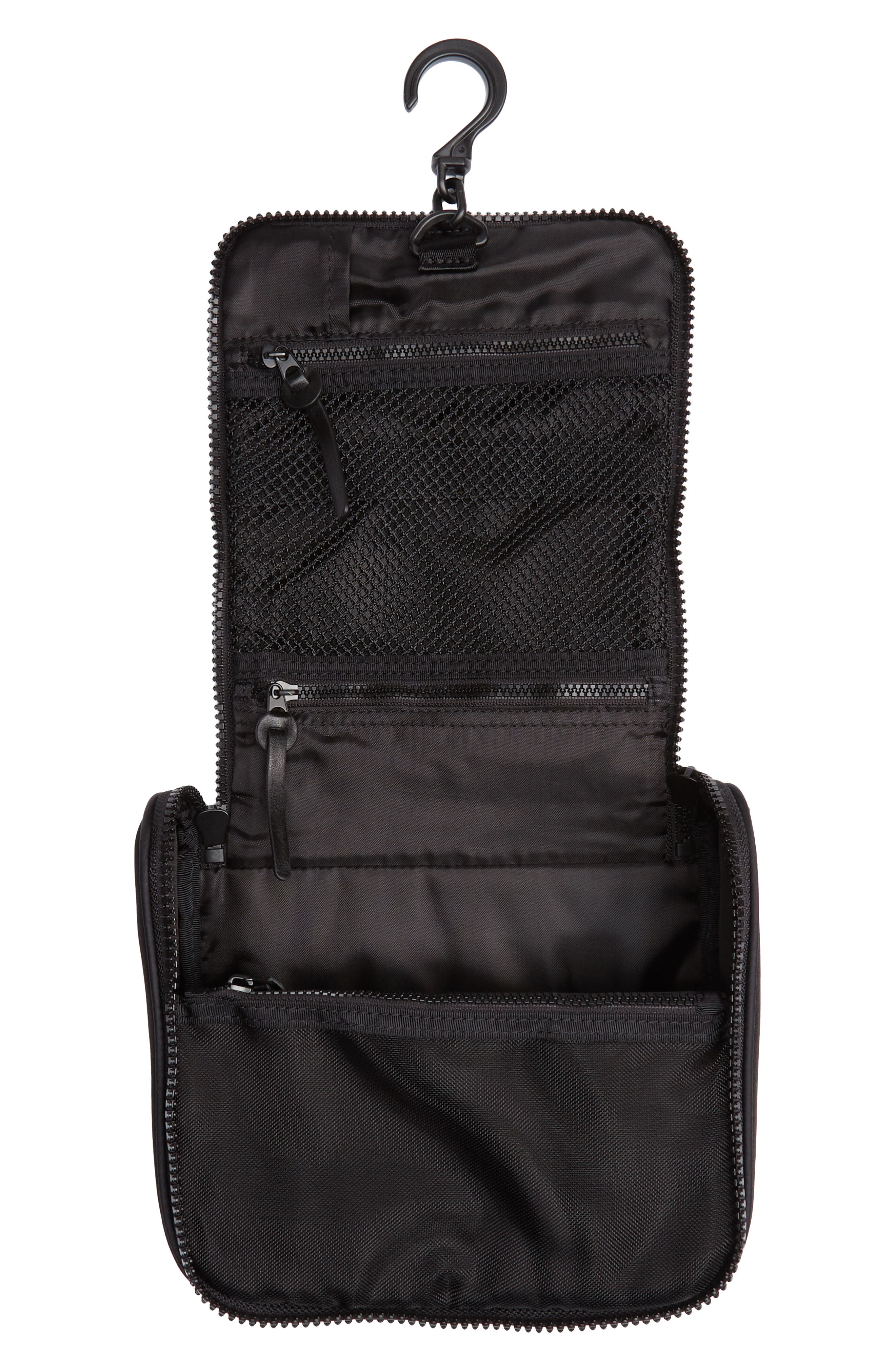 NORDSTROM, Toiletry Bag, Alternate thumbnail 4, color, BLACK