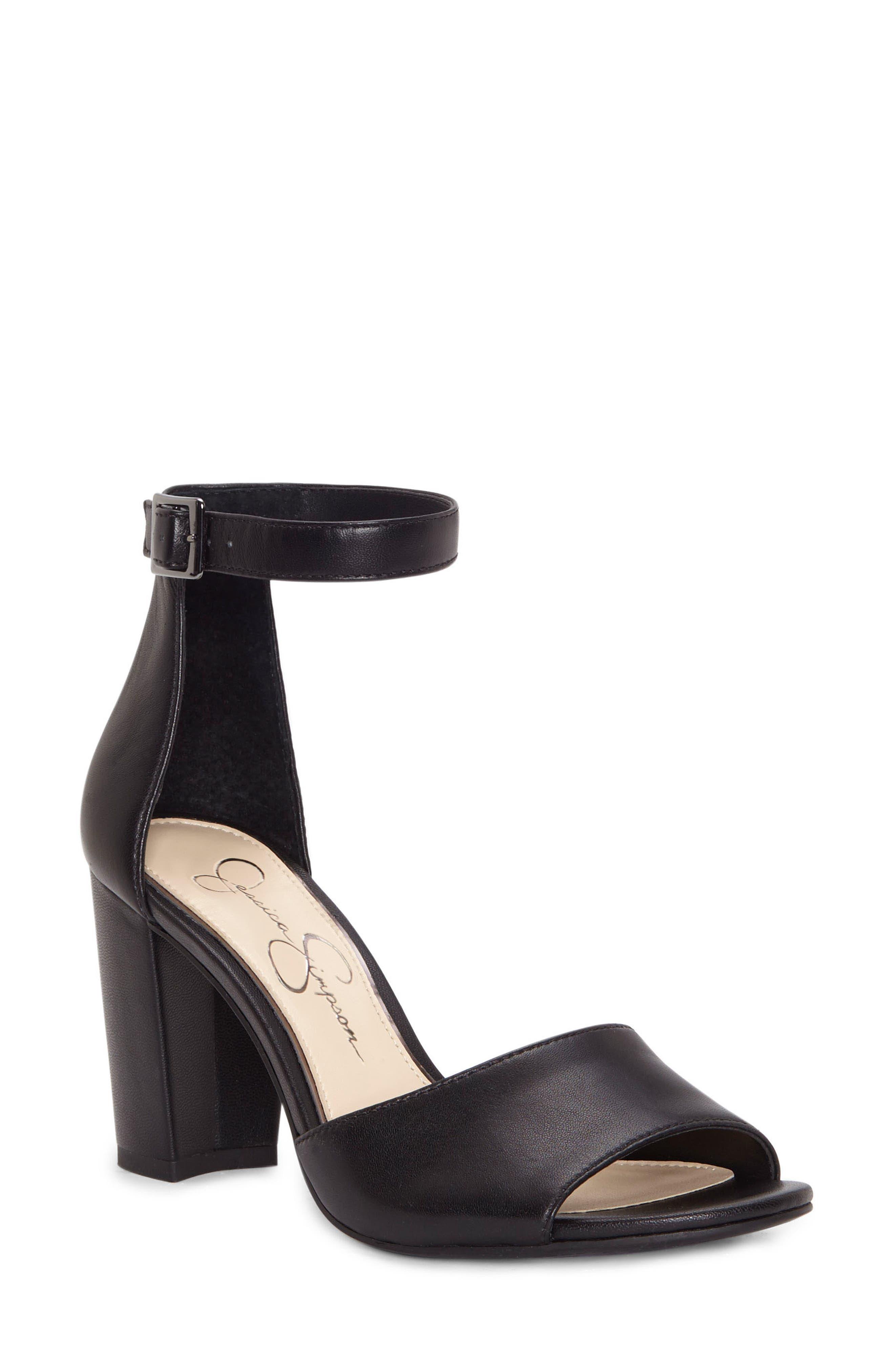 JESSICA SIMPSON Sherron Sandal, Main, color, BLACK SOFT SILK