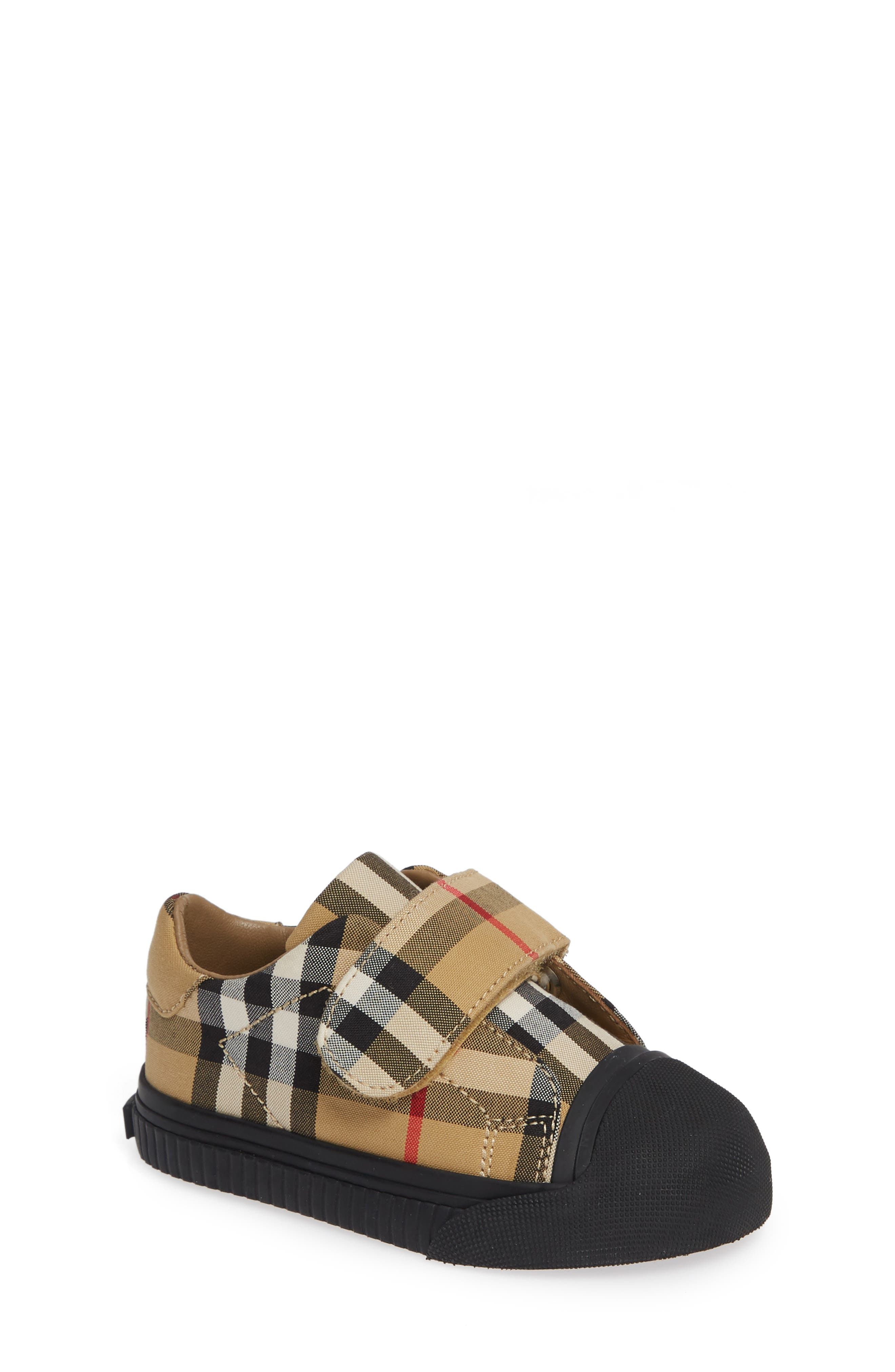 BURBERRY Beech Check Sneaker, Main, color, ANTIQUE YELLOW/ BLACK
