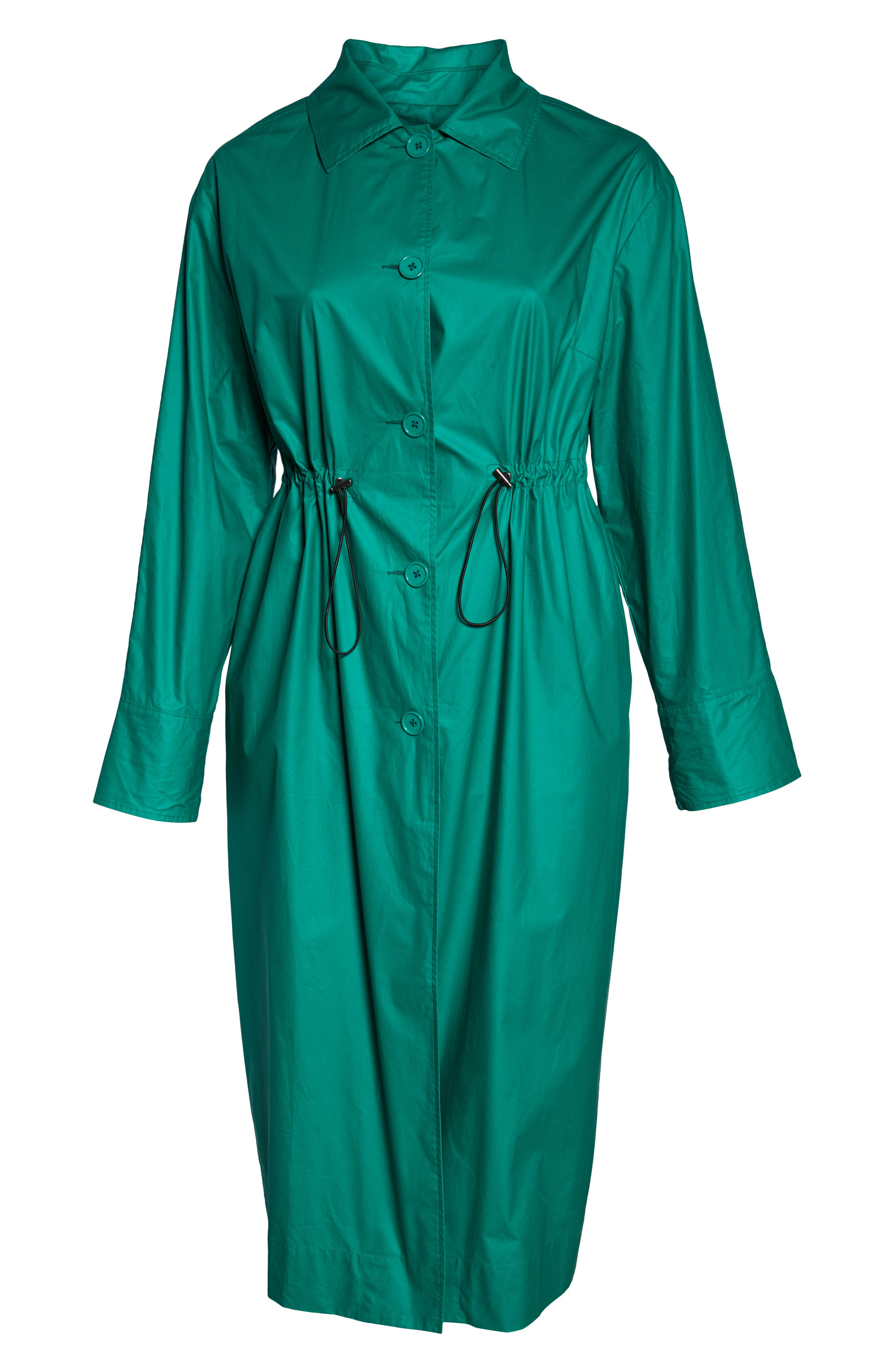 HALOGEN<SUP>®</SUP>, Elongated Cotton Overcoat, Alternate thumbnail 6, color, GREEN ULTRA