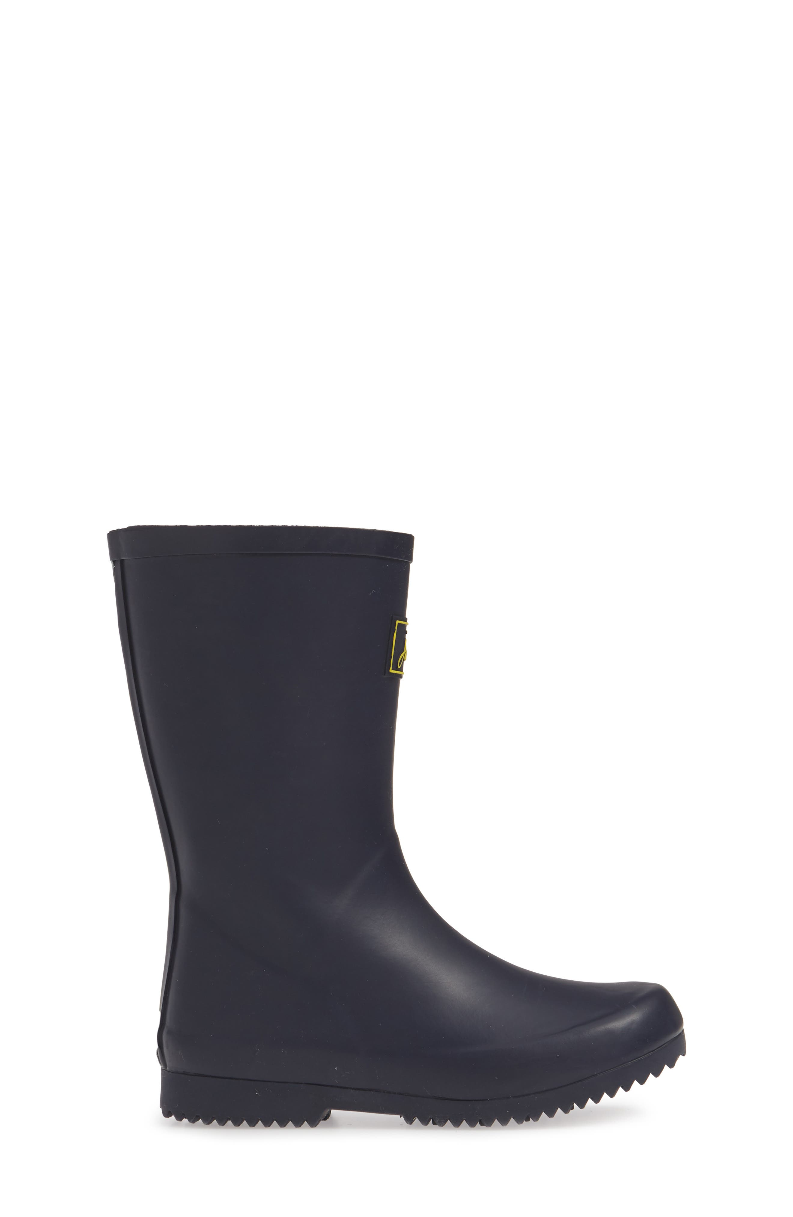 JOULES, Roll Up Waterproof Rain Boot, Alternate thumbnail 3, color, FRENCH NAVY