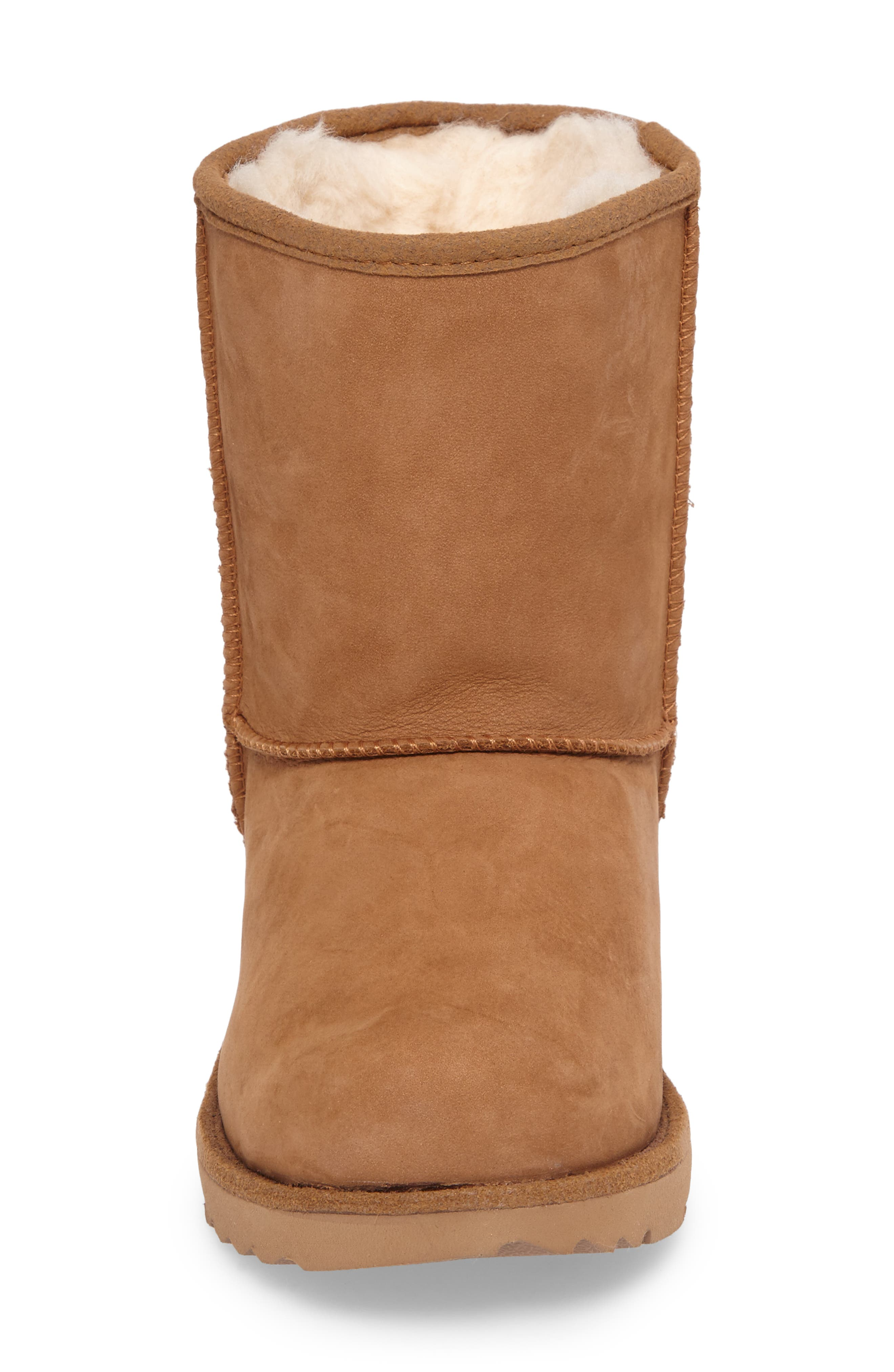 UGG<SUP>®</SUP>, Classic Short II Waterproof Boot, Alternate thumbnail 4, color, CHESTNUT