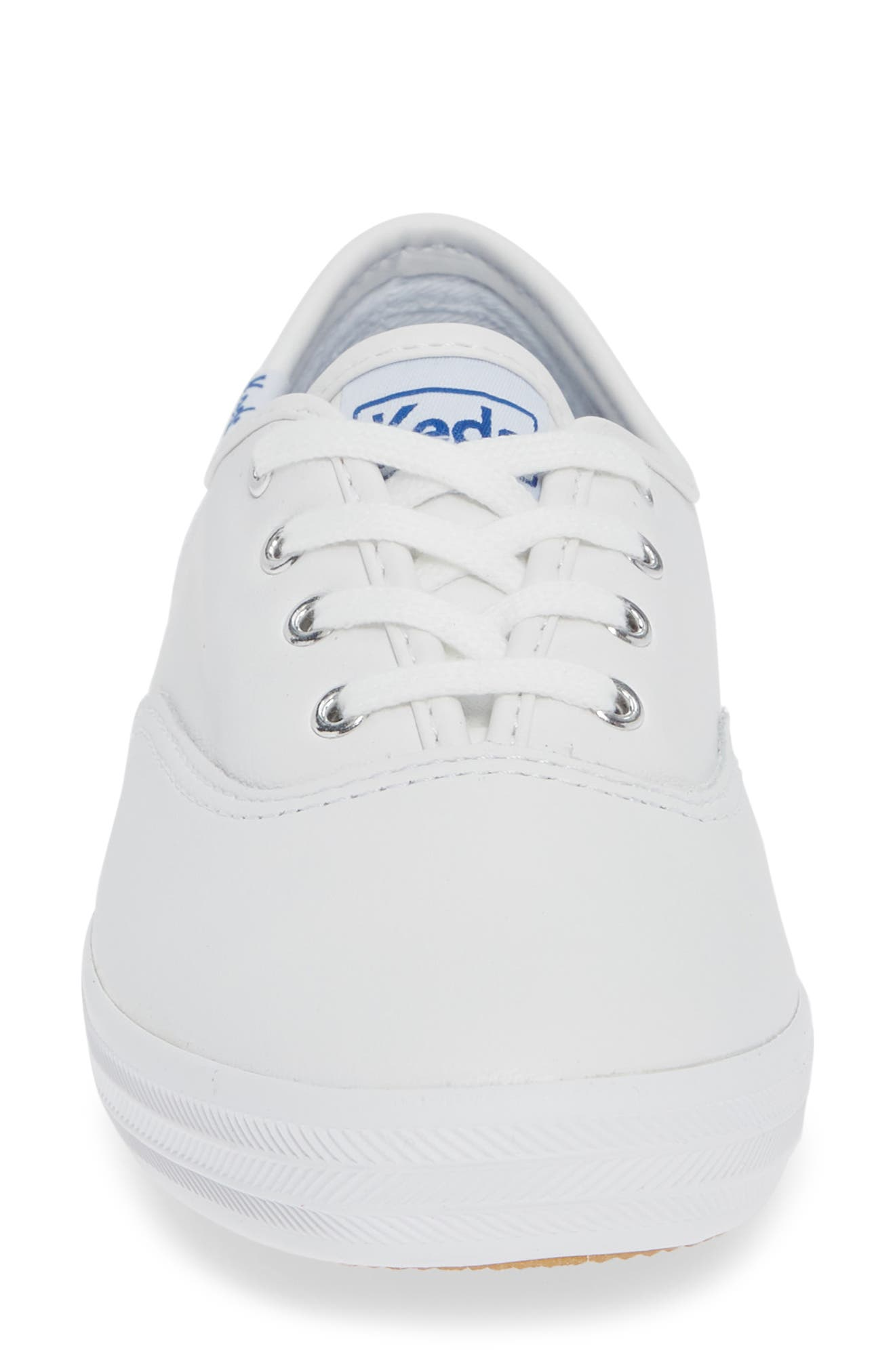 KEDS<SUP>®</SUP>, 'Champion  Leather' Sneaker, Alternate thumbnail 5, color, White