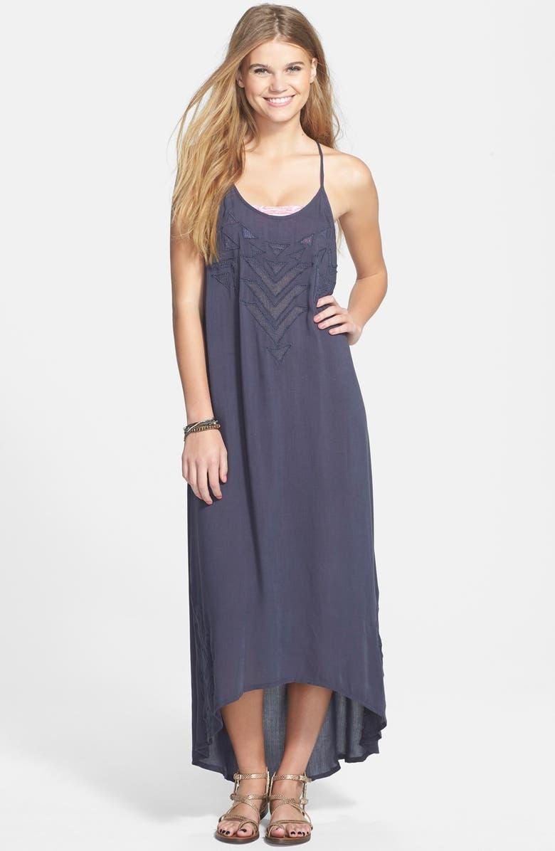 2ff4d61ef4e51 Rip Curl 'Mayan' Embroidered Mesh High/Low Maxi Dress (Juniors ...