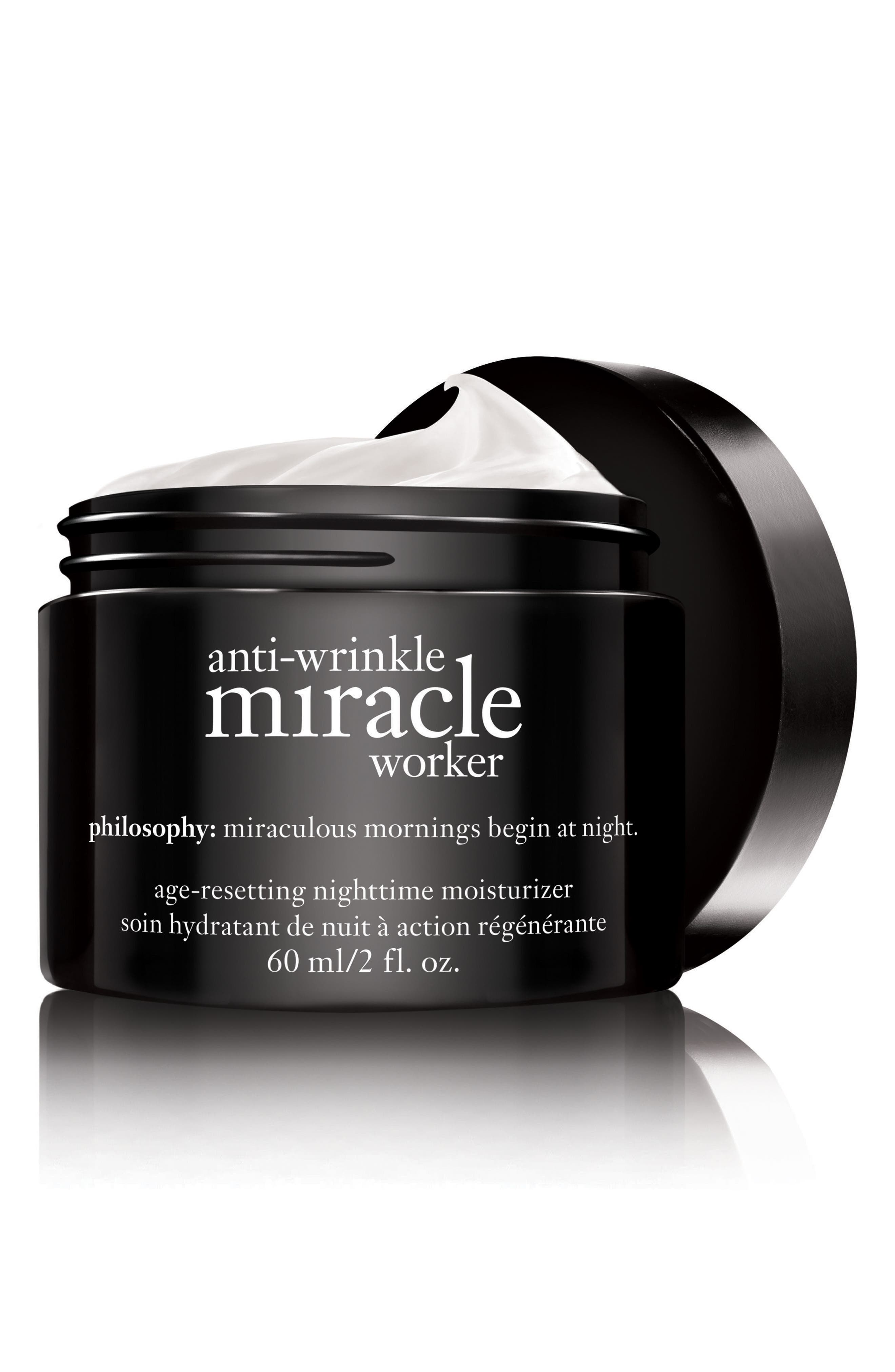 PHILOSOPHY, 'anti-wrinkle miracle worker' age-resetting nighttime moisturizer, Alternate thumbnail 2, color, 000